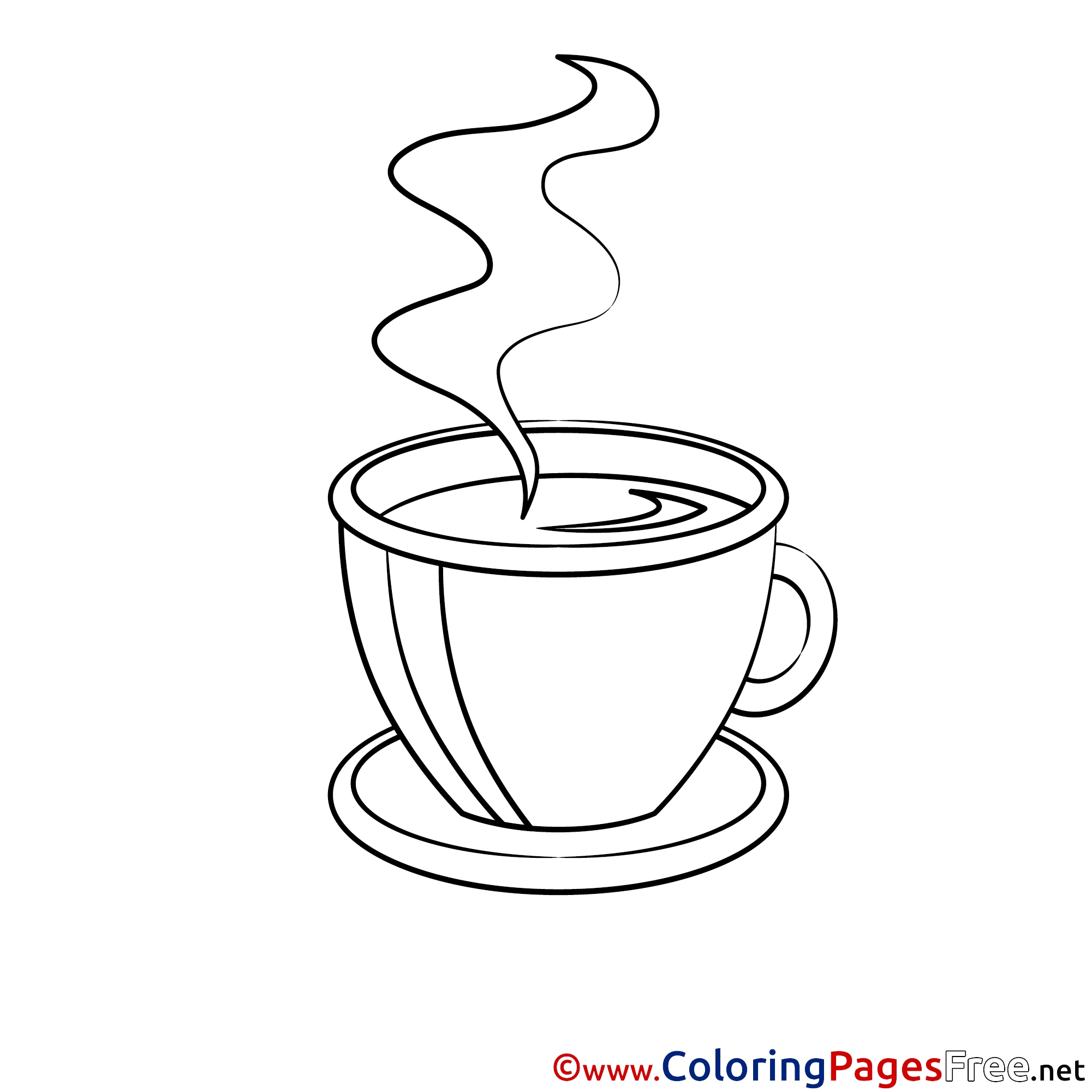 It is an image of Irresistible Coffee Cup Coloring Page