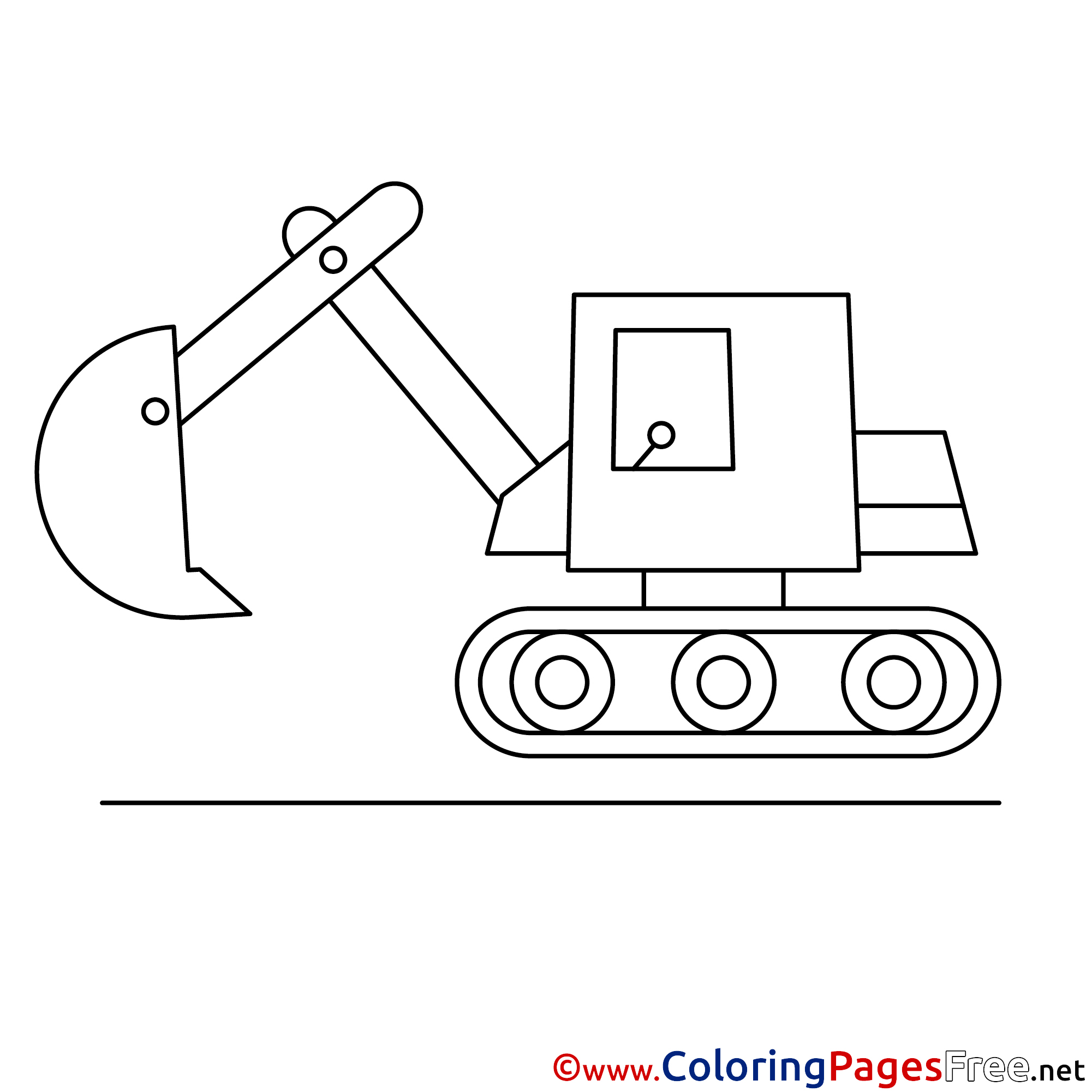 Excavator Kids Download Coloring Pages