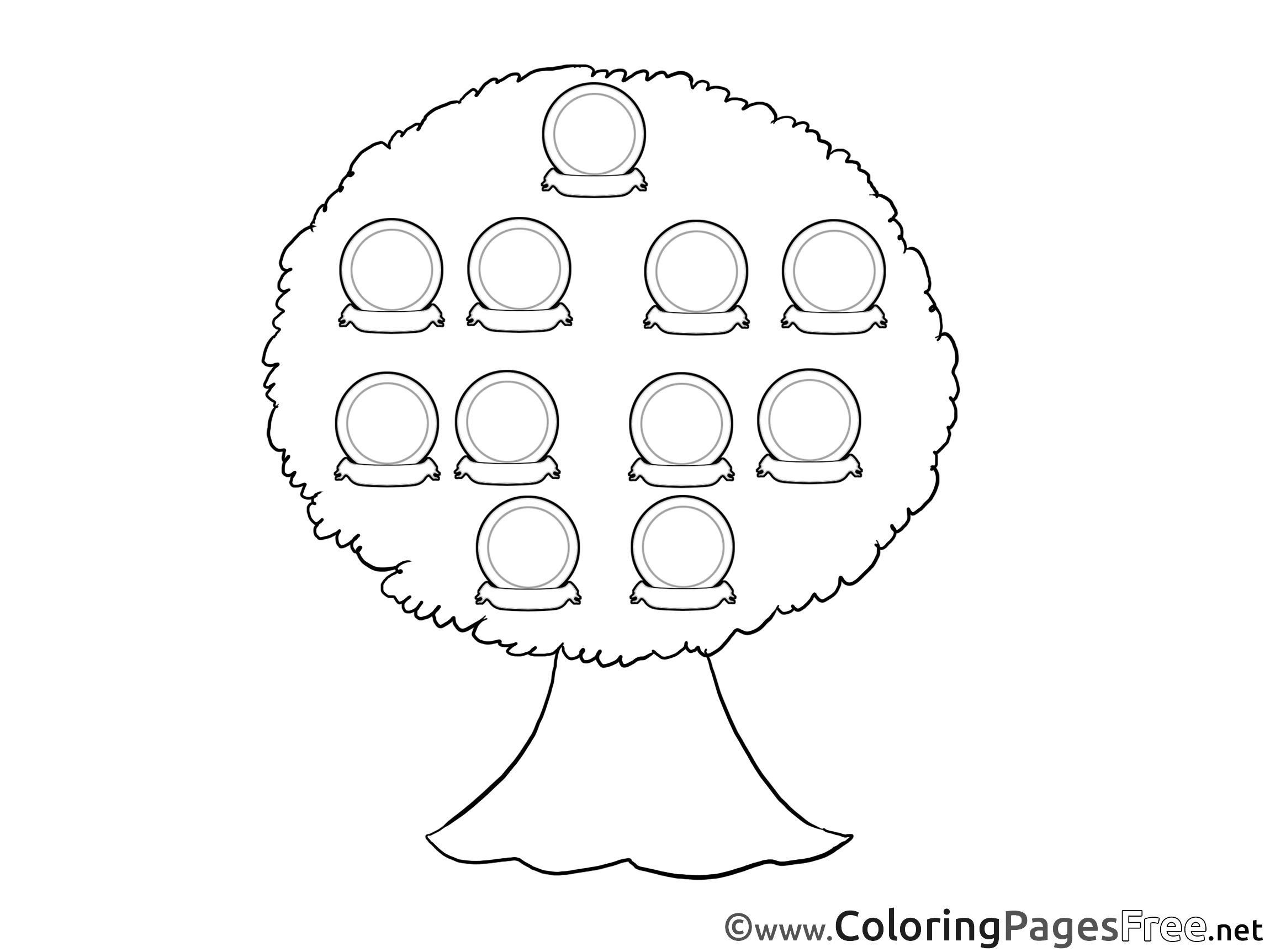 Family Tree Free Printable Coloring Sheets