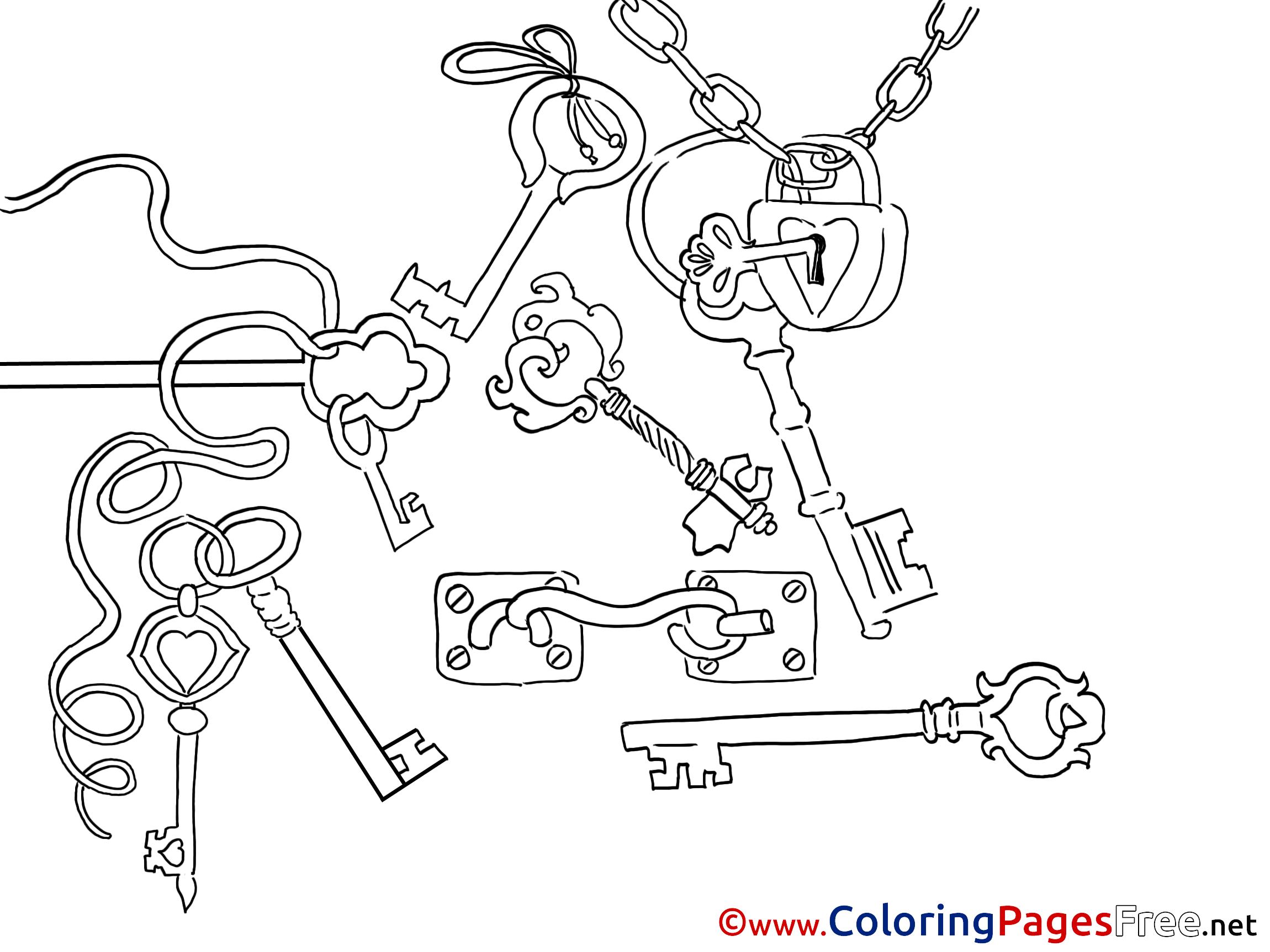 Keys Printable Coloring Sheets Download