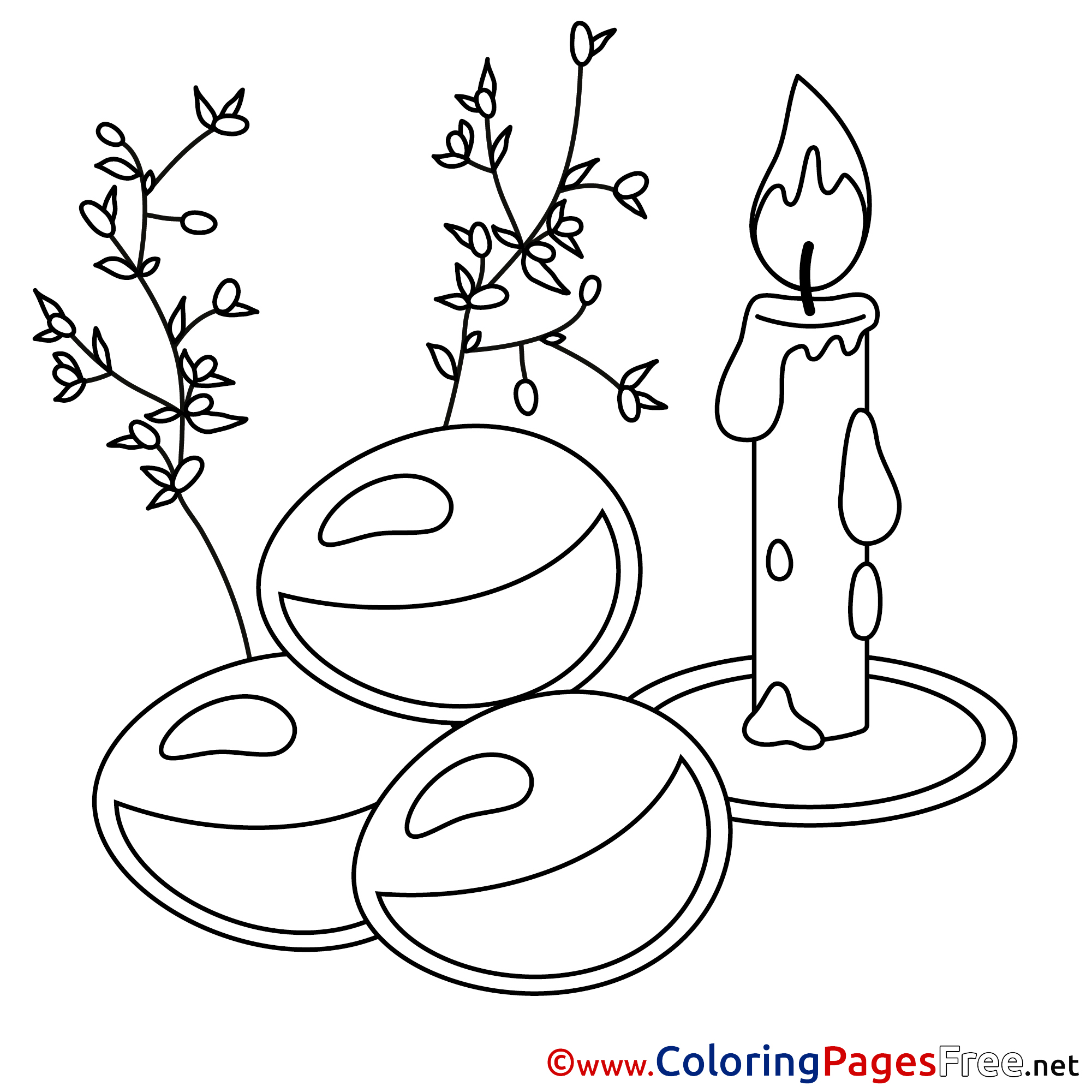 coloring pages of easter candles - photo#41
