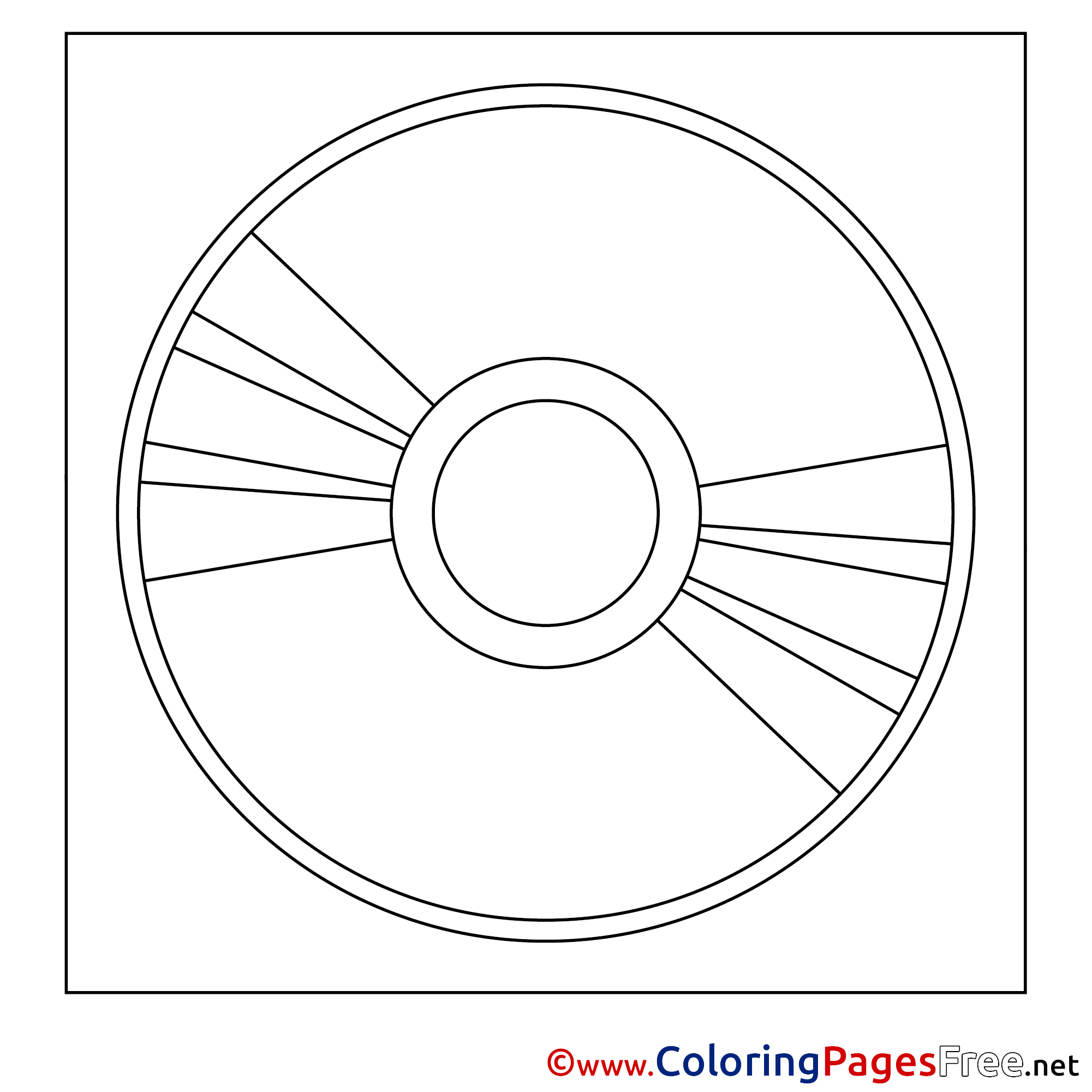 disk coloring pages for free