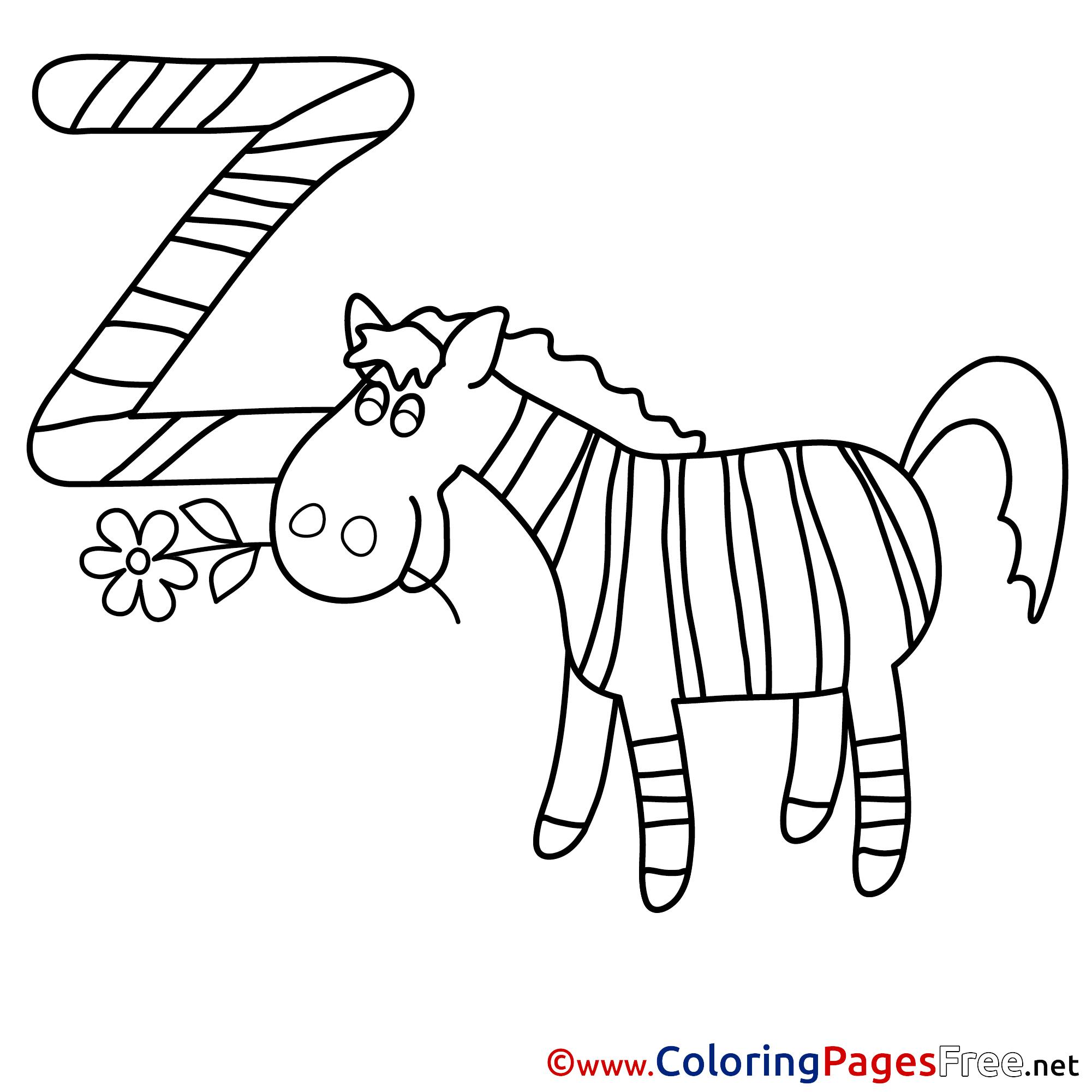 Colouring sheets zebra - Colouring Sheets Zebra 59