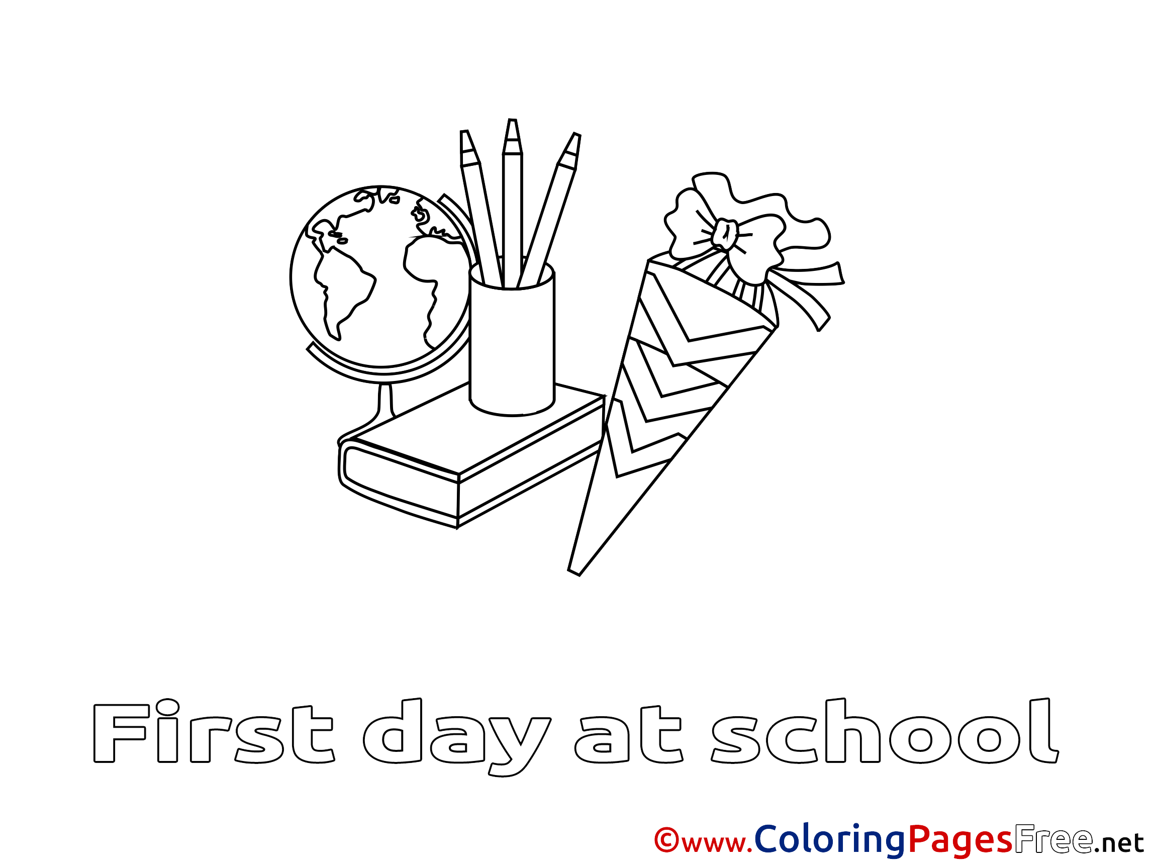 Easy School Supplies Coloring Pages #6193 School Supplies Coloring ... | 1725x2300
