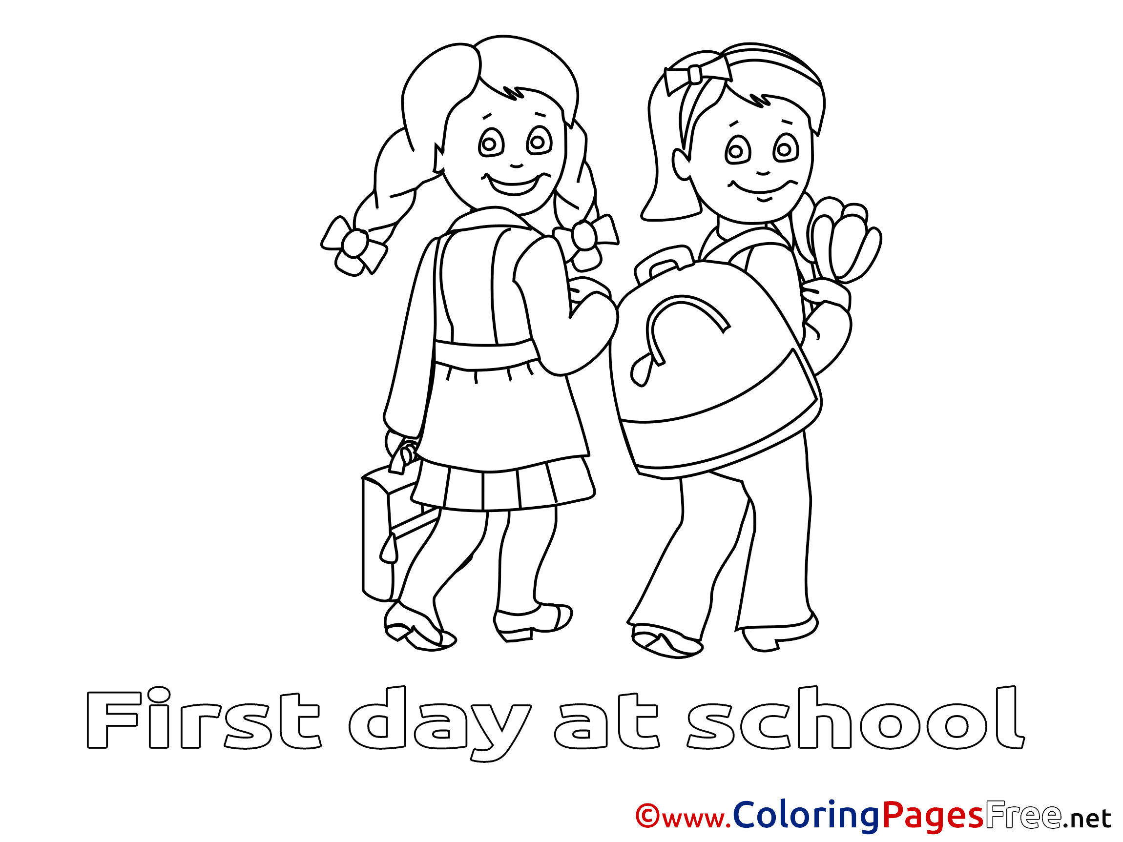 School Colouring In | Coloring Pages | 1725x2300