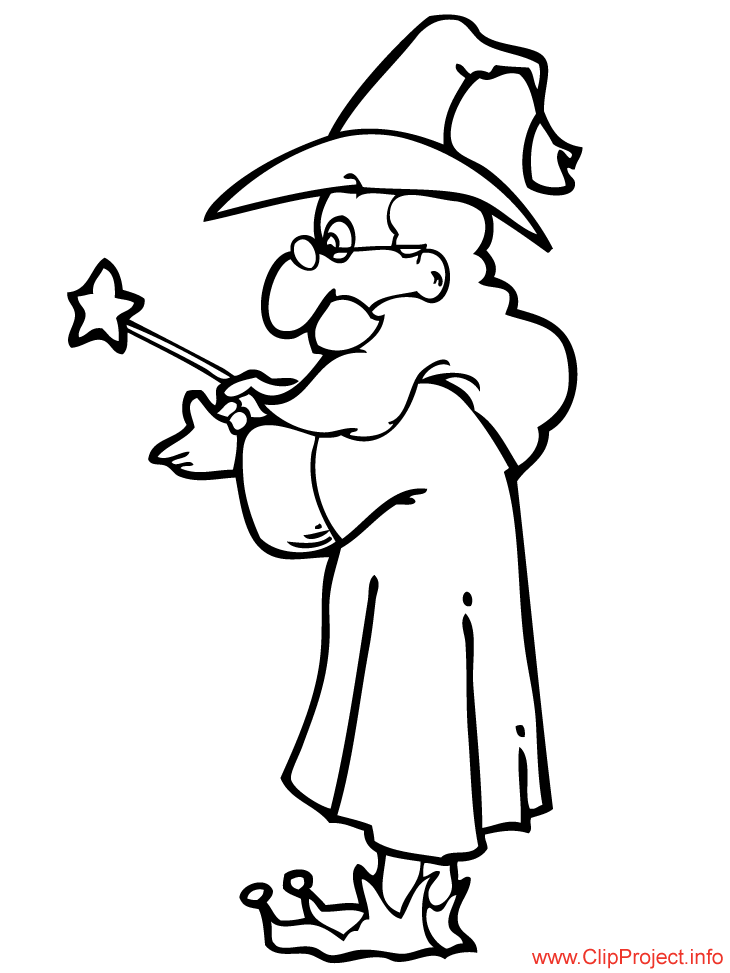 coloring pages magician - photo#6