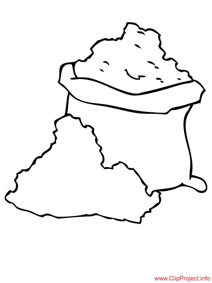 Bag Of Grain Coloring Page Coloring Pages