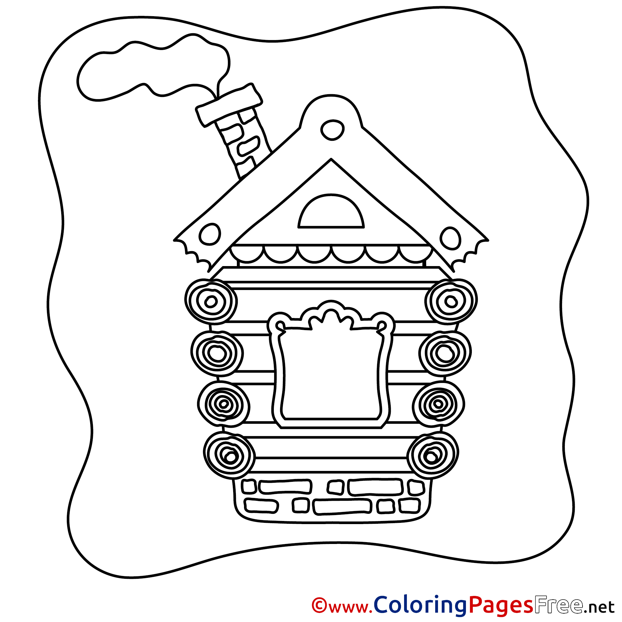 House Free Printable Coloring Sheets