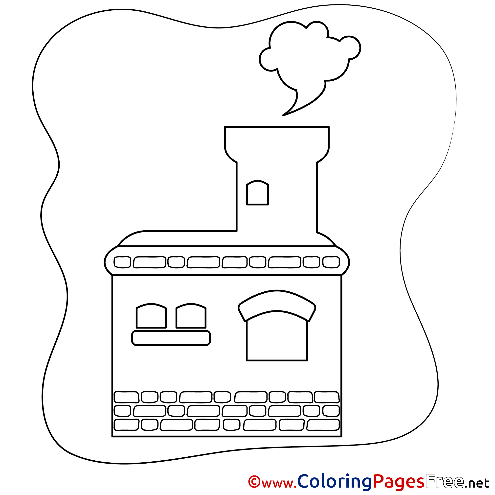 Stove coloring page