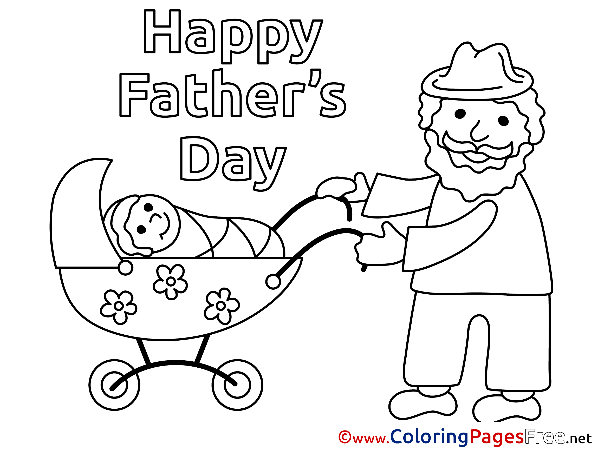 Baby free Coloring Pages Father\'s Day