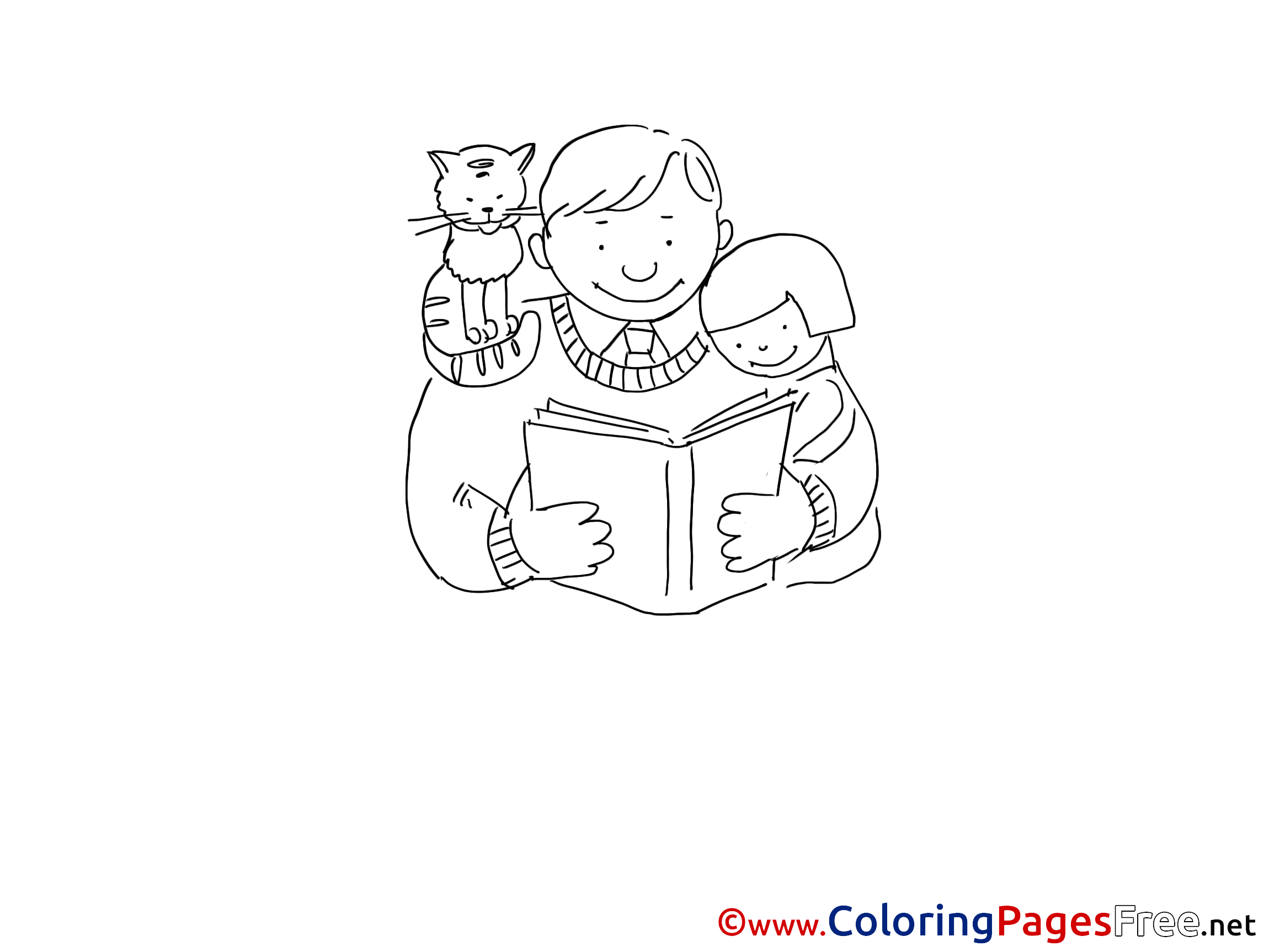 Book printable Coloring Pages Father\'s Day