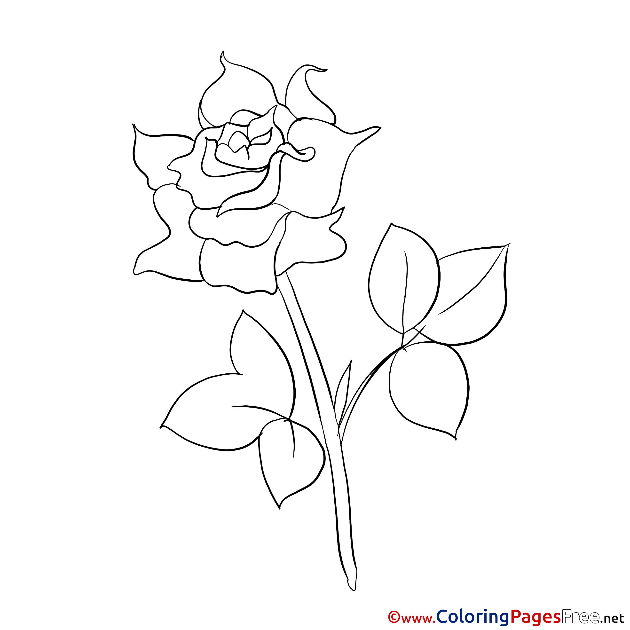 - Painting Rose Kids Download Coloring Pages