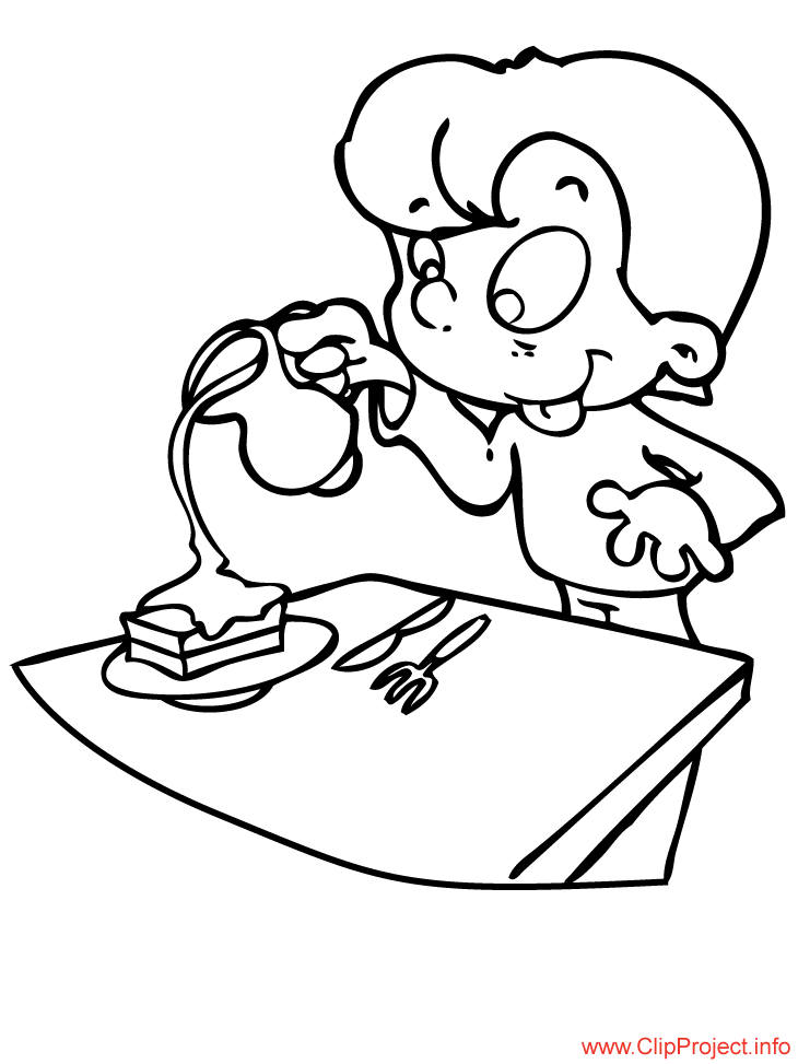 Food coloring pages for free - Cocina para colorear ...