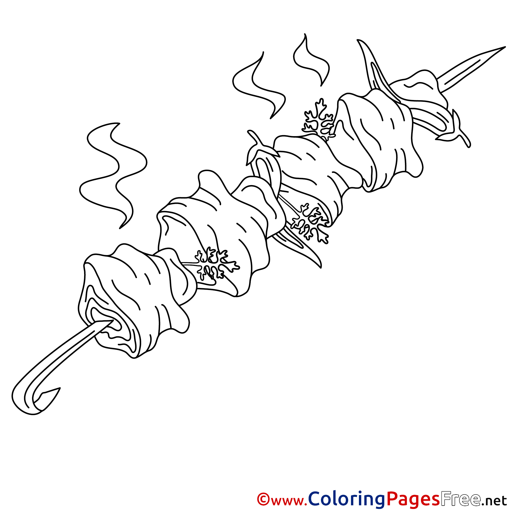 Kebab for free Coloring Pages
