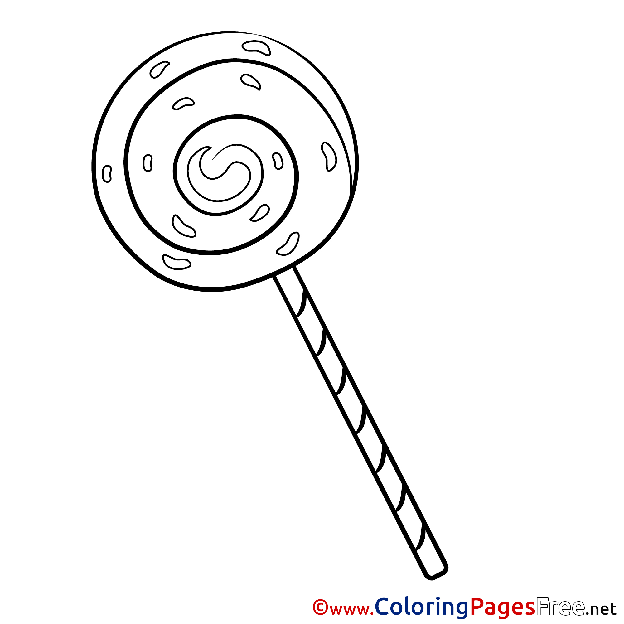 free lollipop coloring pages | Lollipop for Kids printable Colouring Page