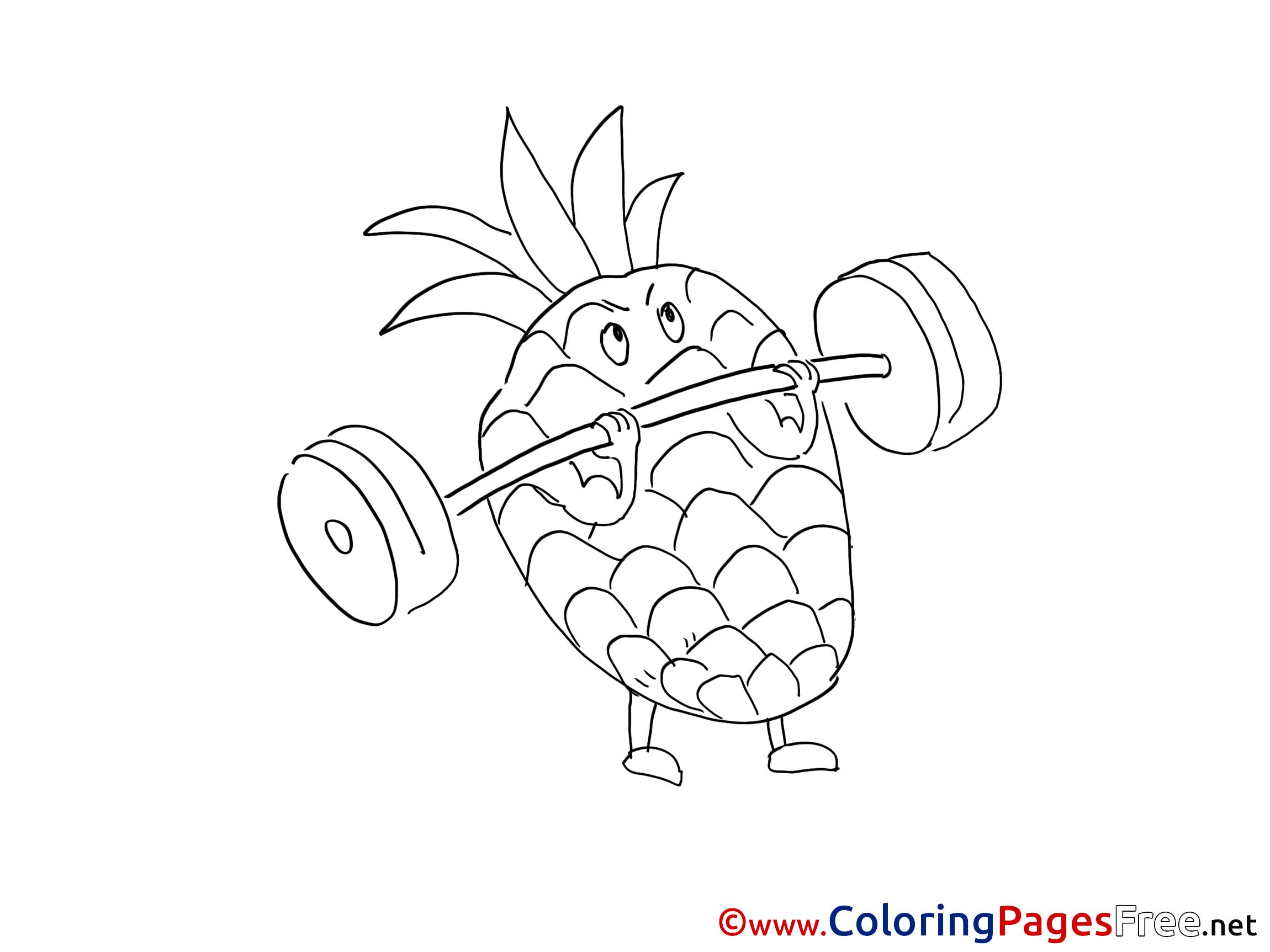 ananas coloring sheets download free