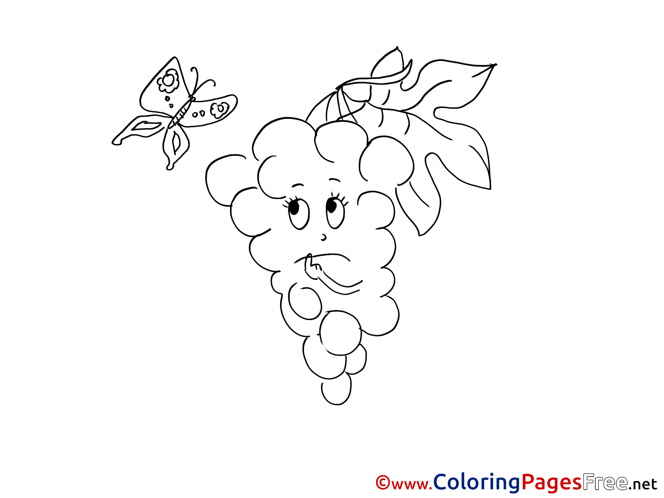 grape 3. bunch grapes coloring pages. grapes coloring pages ...