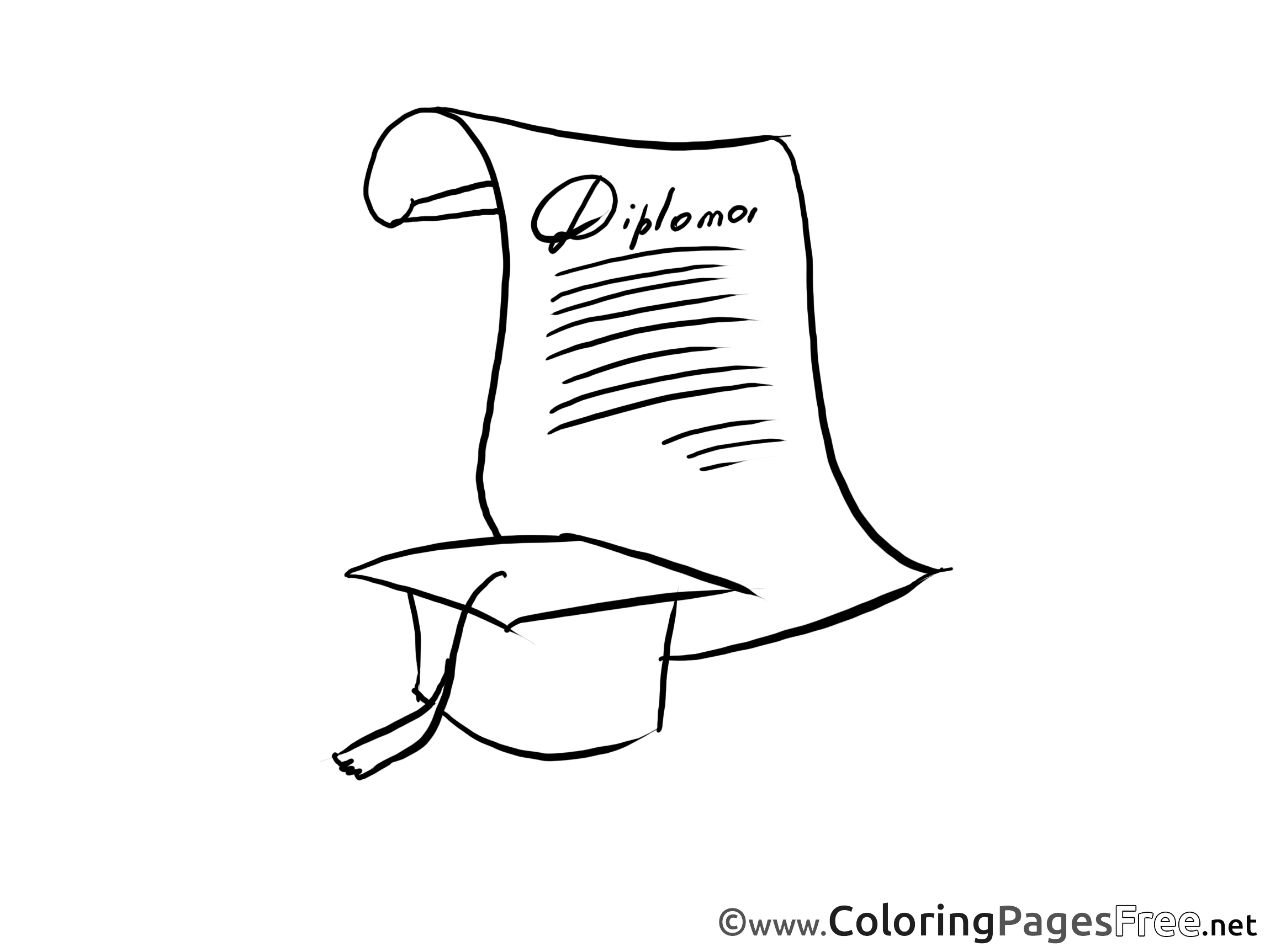 diploma coloring pages