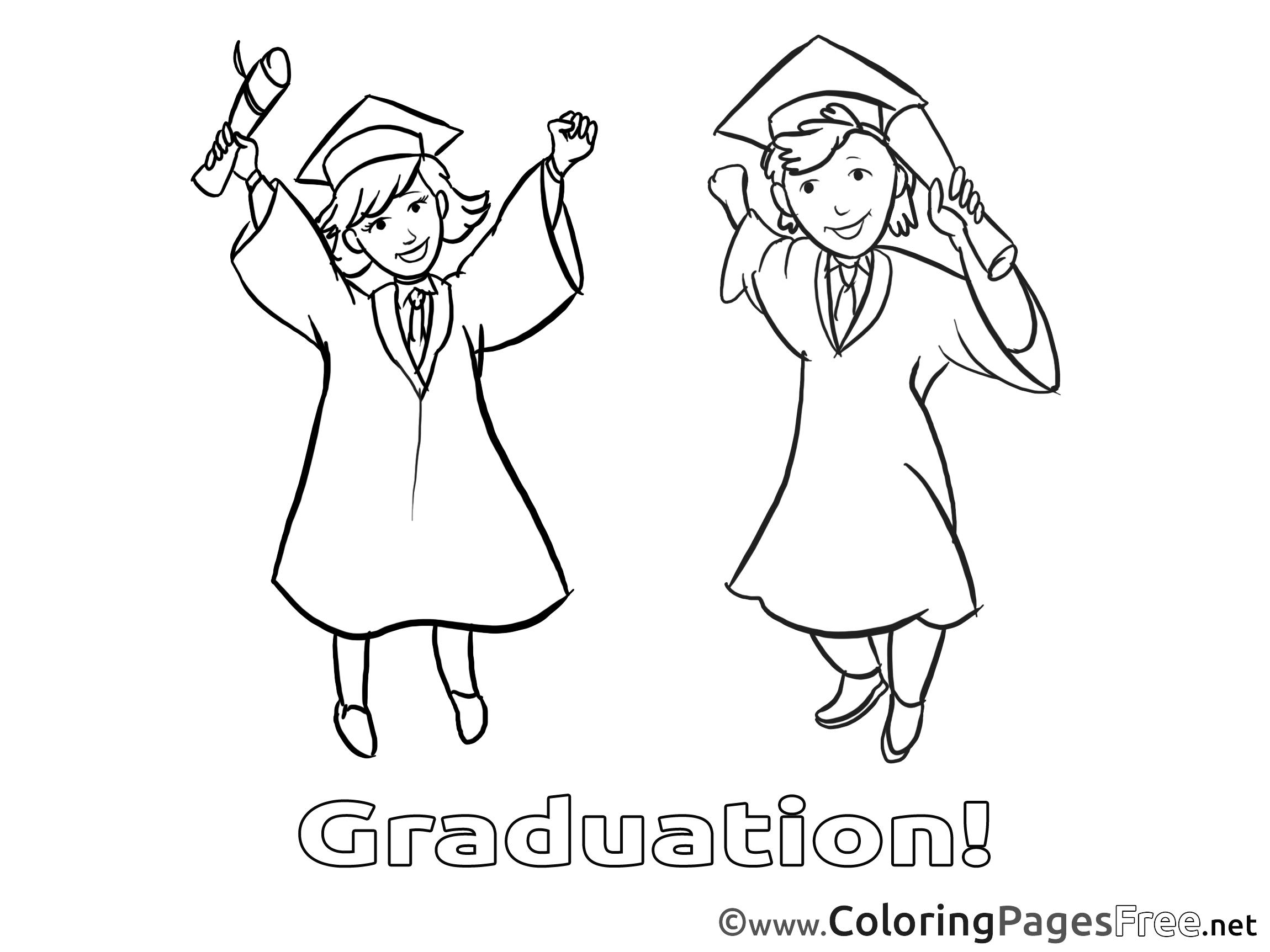 Coloring pages graduation - Kids Graduation Coloring Pages Bachelor