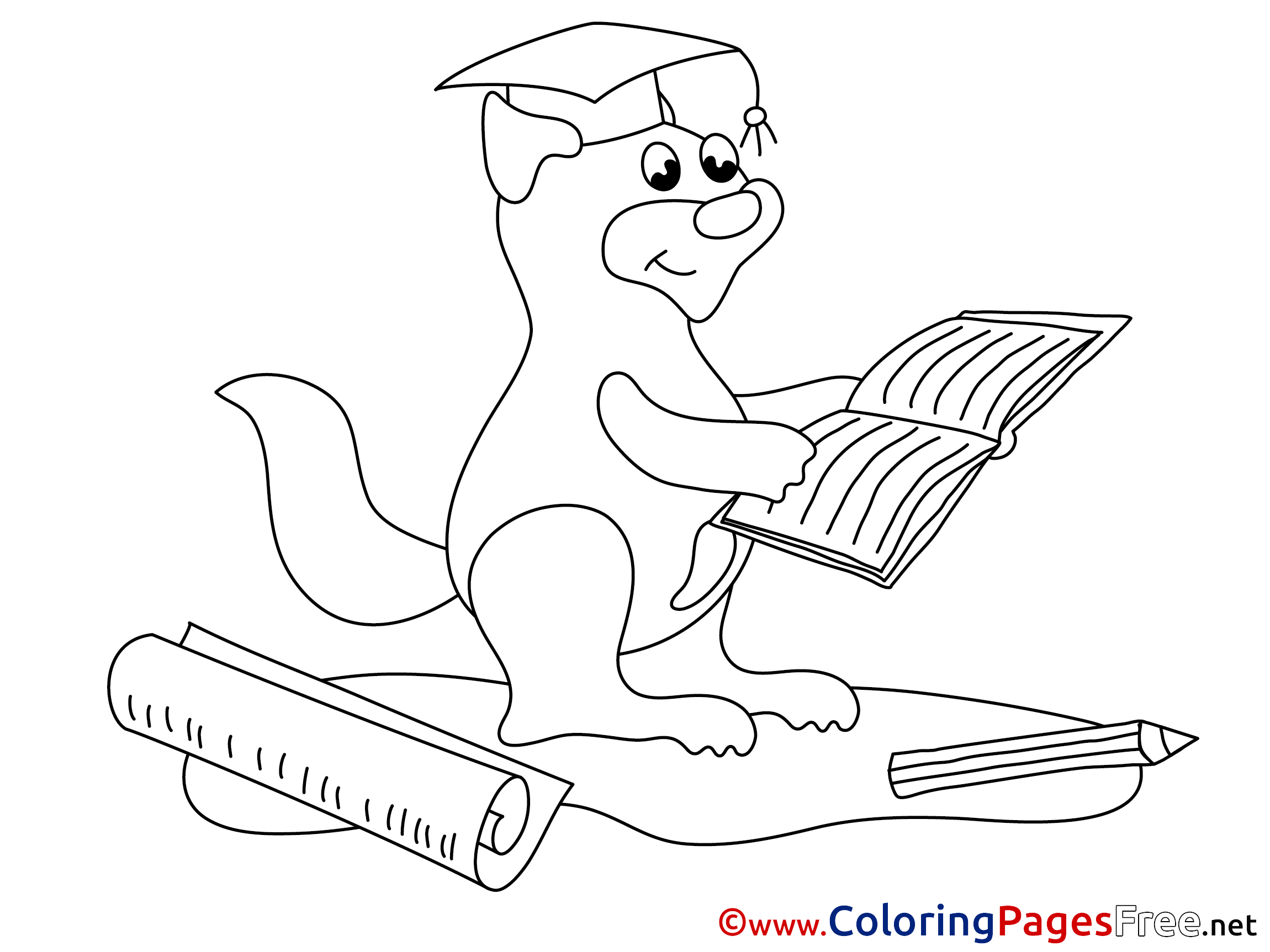Squirrel Ask Coloring Page