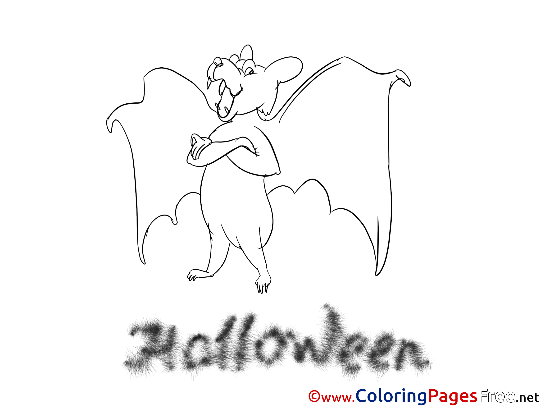 Bat Coloring Pages Halloween