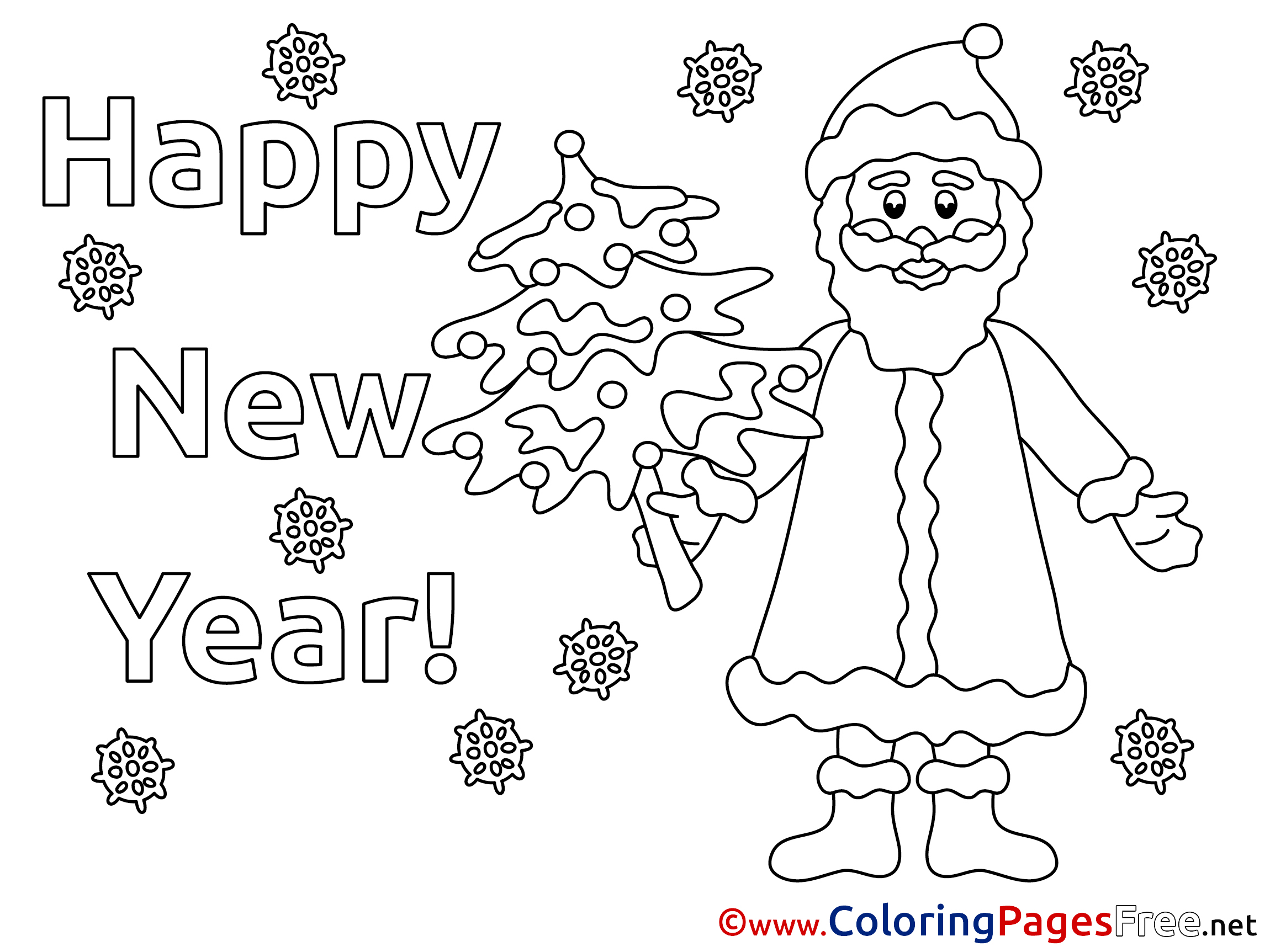 santa claus coloring pages for preschoolers - children santa claus new year colouring page
