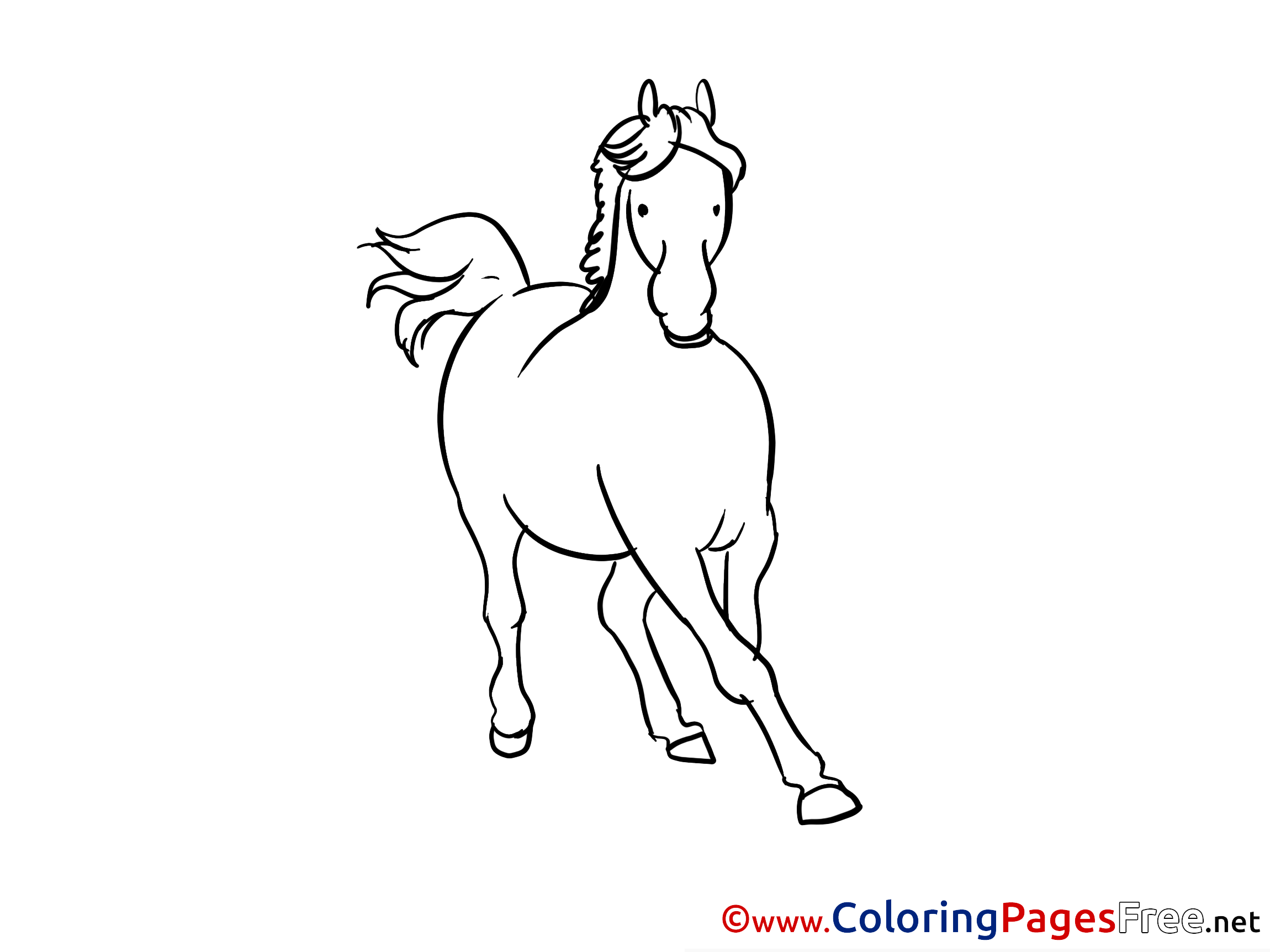 Gallop Horse Coloring Sheets download free