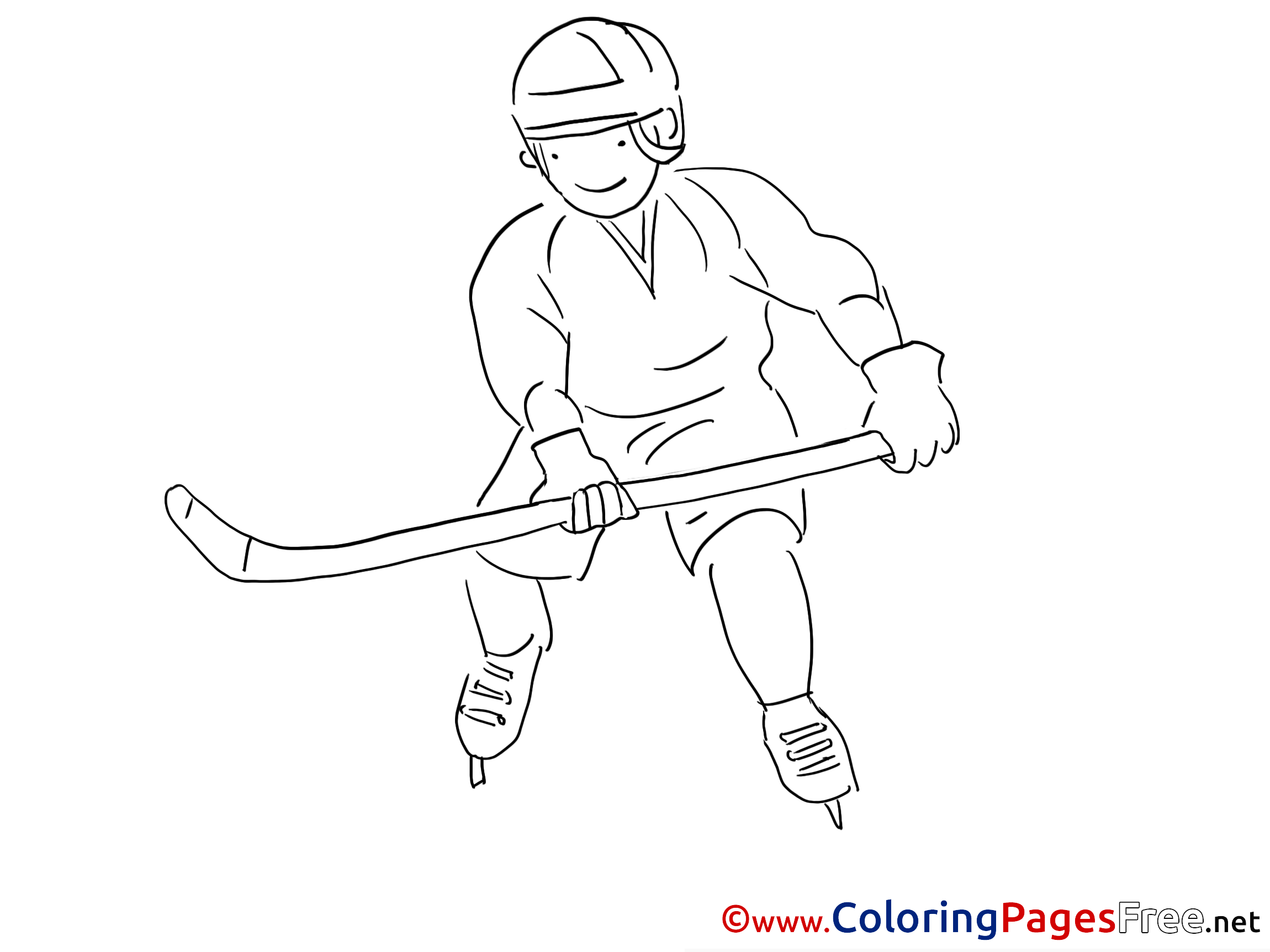 Free Hockey Coloring Pages - Coloring Home | 1725x2300