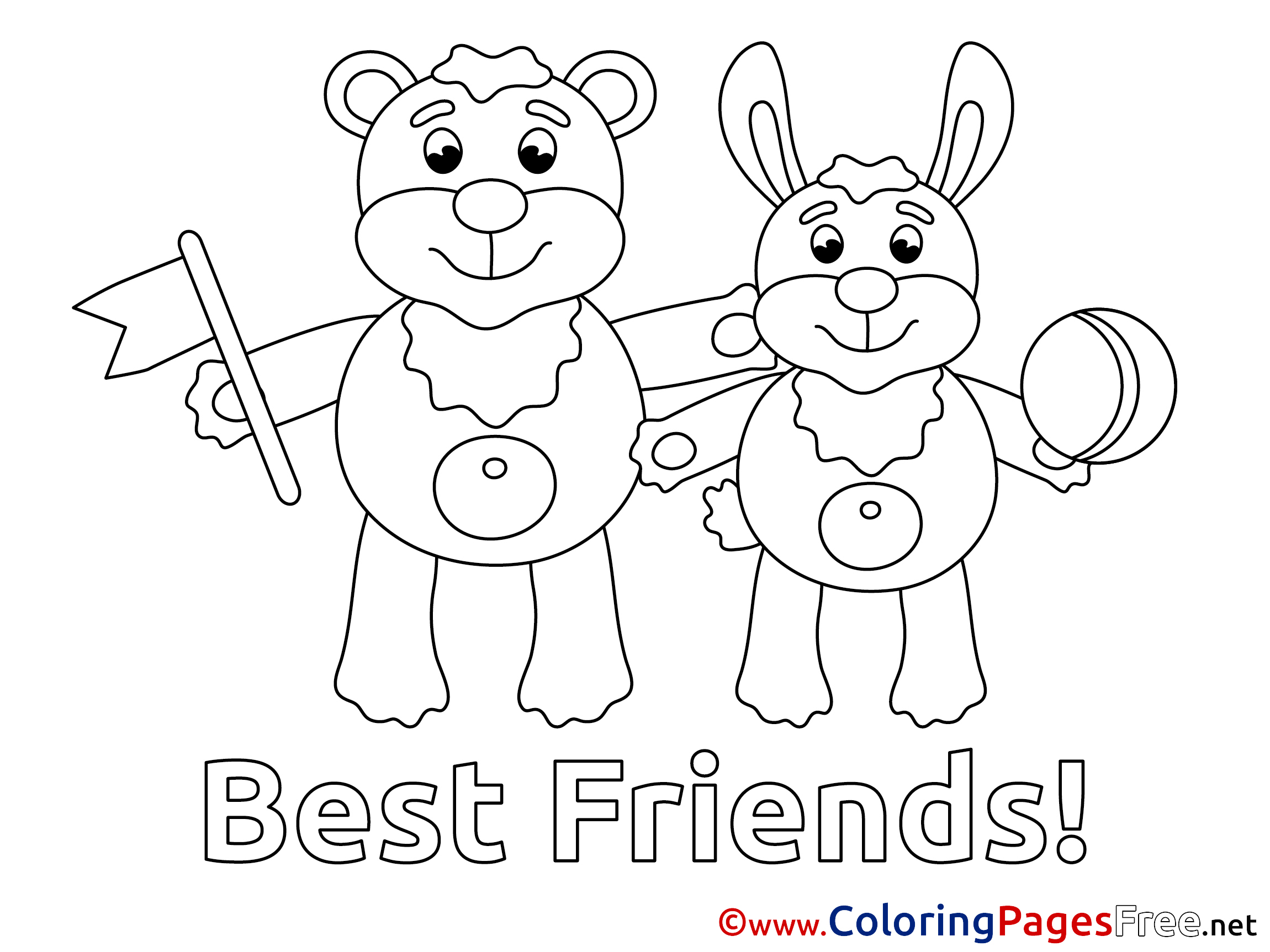 Animals download printable Coloring Pages Friends