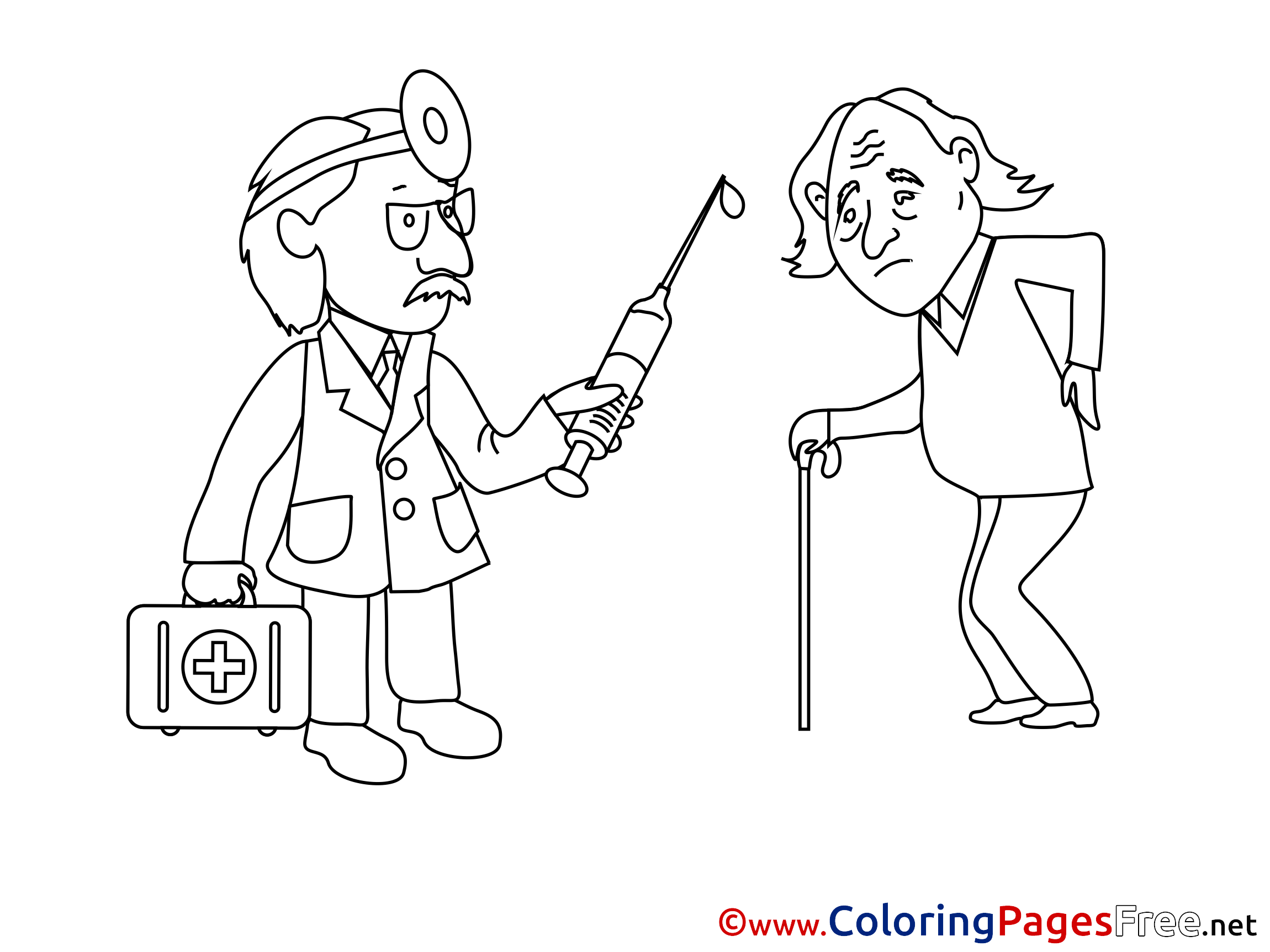 Printable Veterinarian Coloring Pages