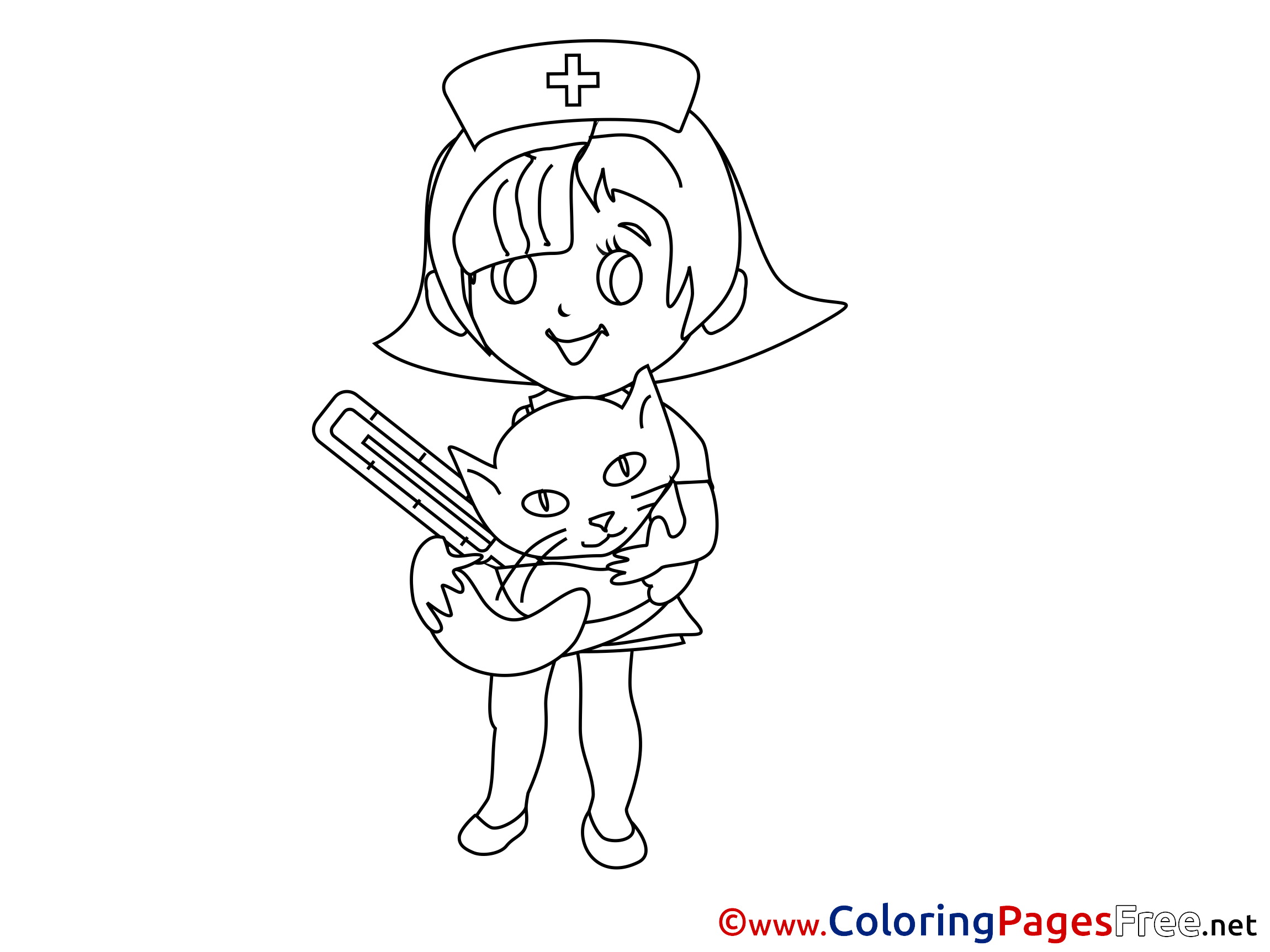 Free printable coloring pages veterinarians - Free Printable Coloring Pages Veterinarians 4