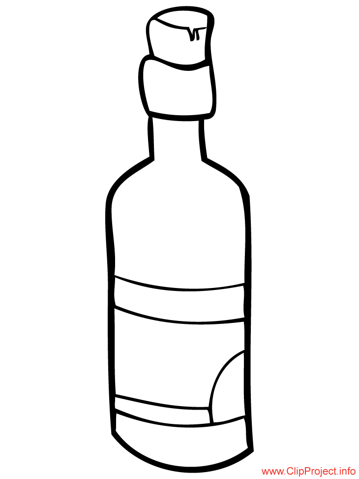 Bottle image to color for Coloring pages of bottles