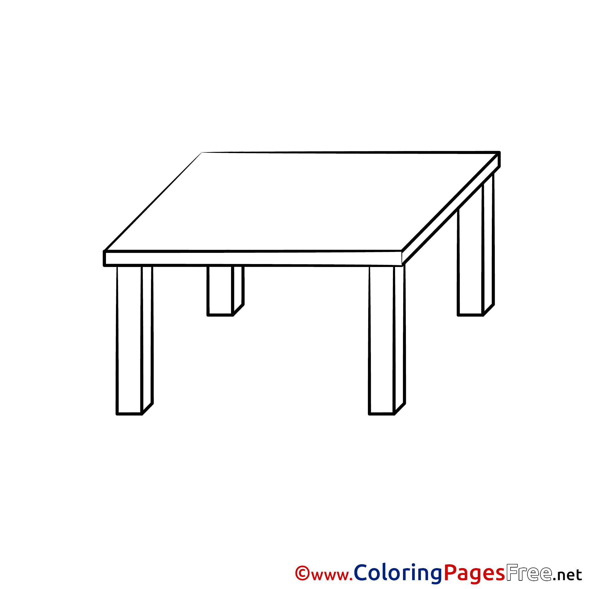Table for free Coloring Pages download