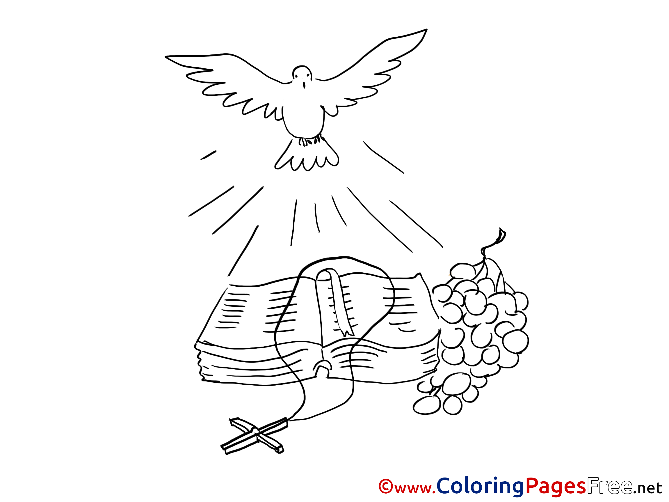Bible Coloring Sheets Christening Free