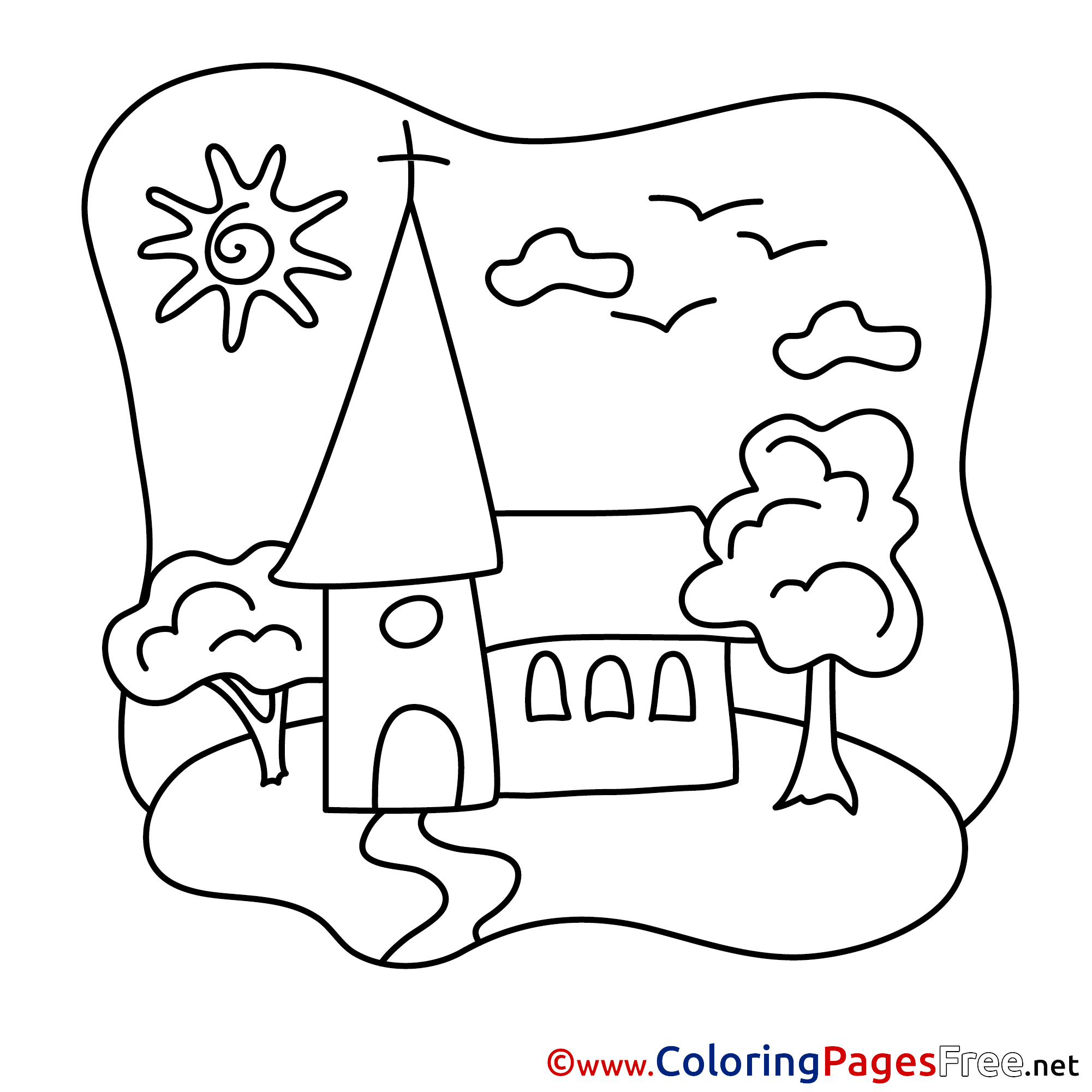 In Church The Communion Coloring Page Coloring Coloring Pages