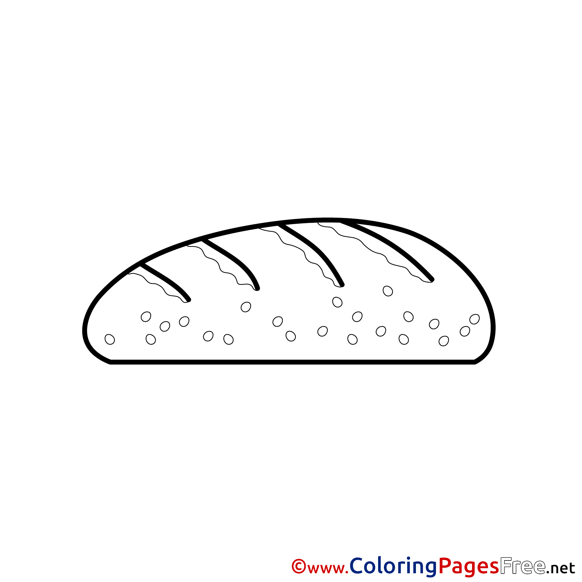Bread Coloring Pages Confirmation