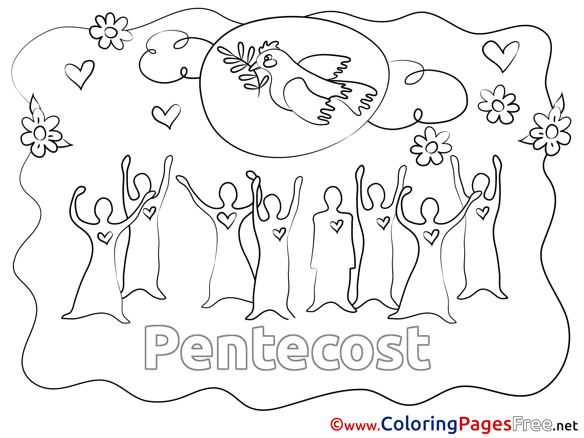 pentecost coloring pages contegri com