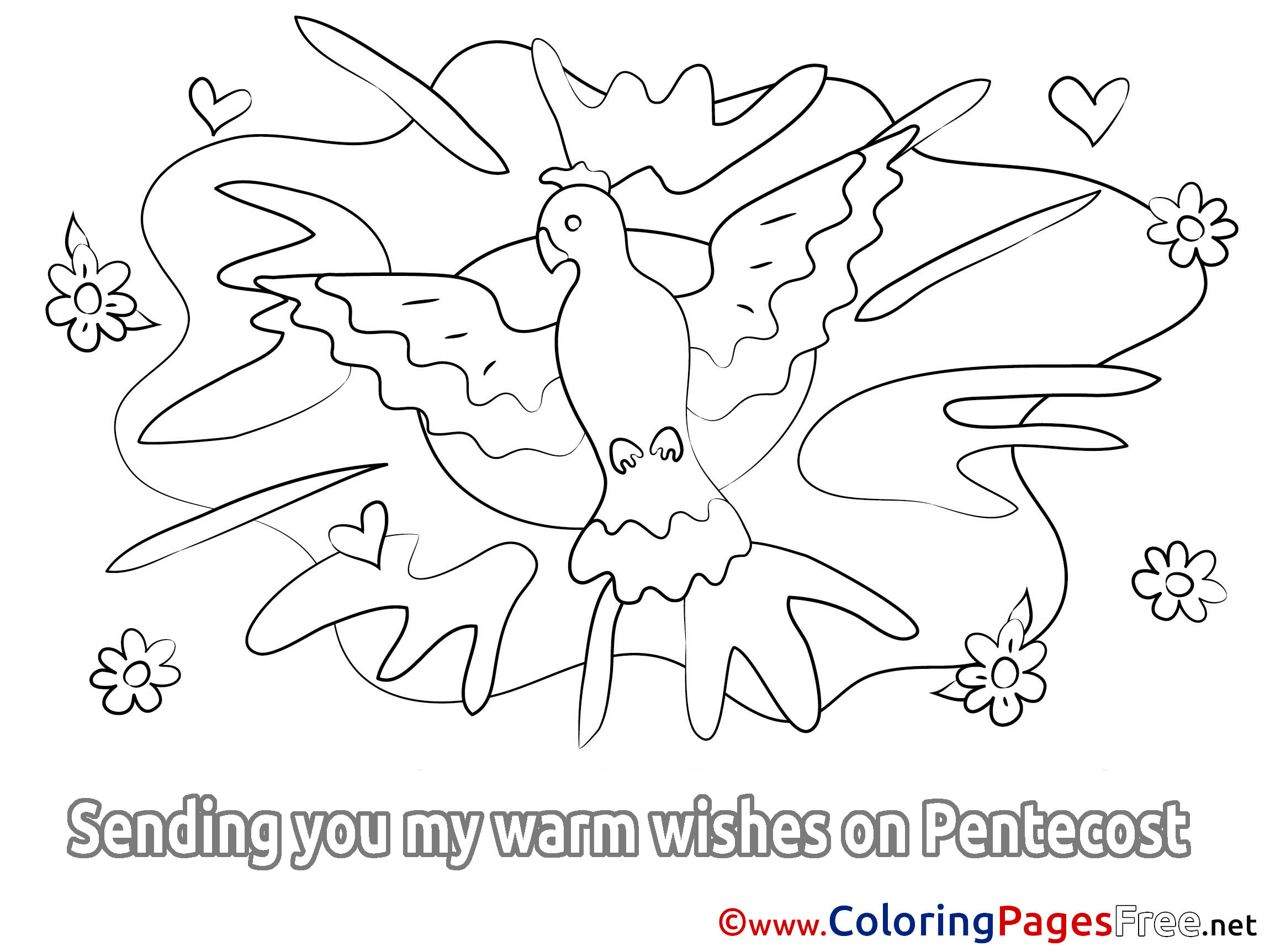 Holiday Colouring Sheet Download Pentecost
