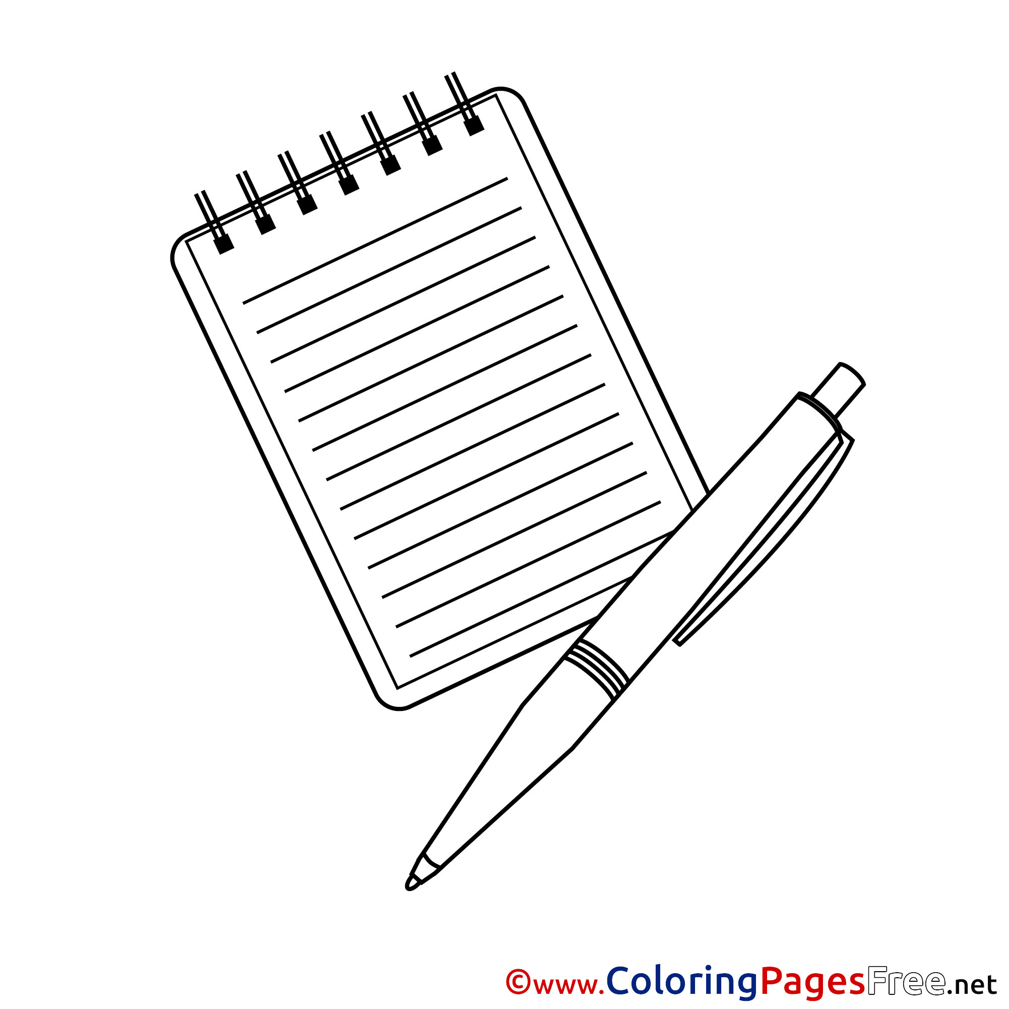 notepad coloring pages - photo#5