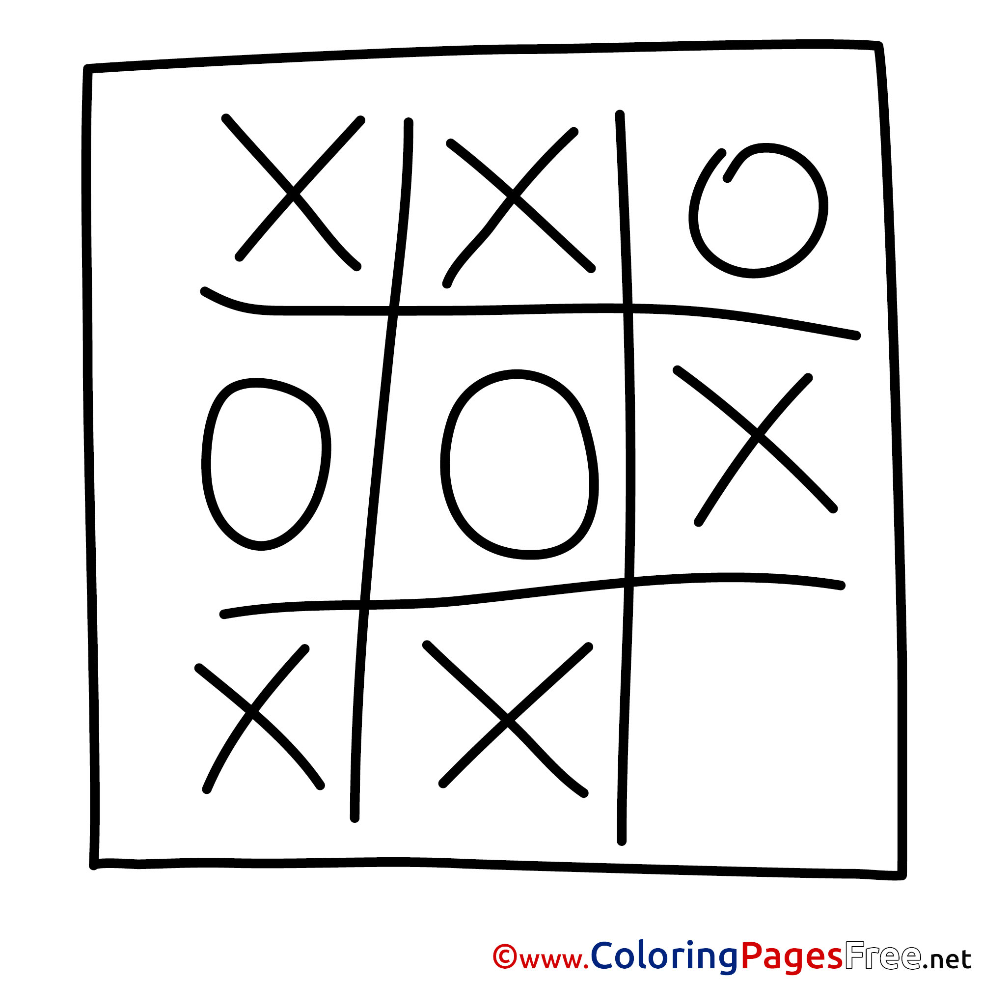 tic tac toe download colouring sheet free