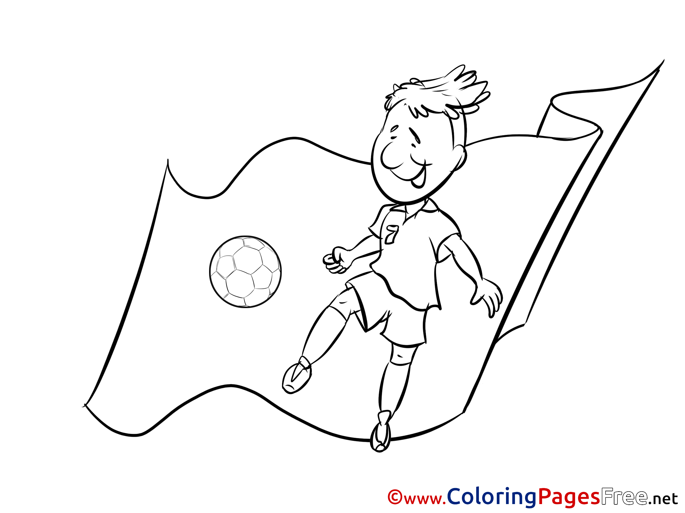 Albania Footballer Flag Kids Soccer Coloring Pages