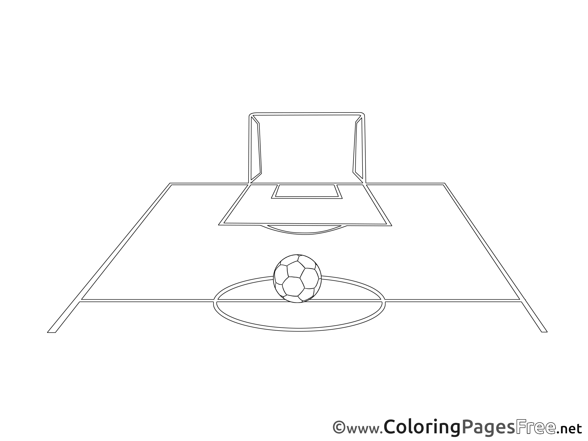 Field Ball Game Kids Soccer Coloring Pages