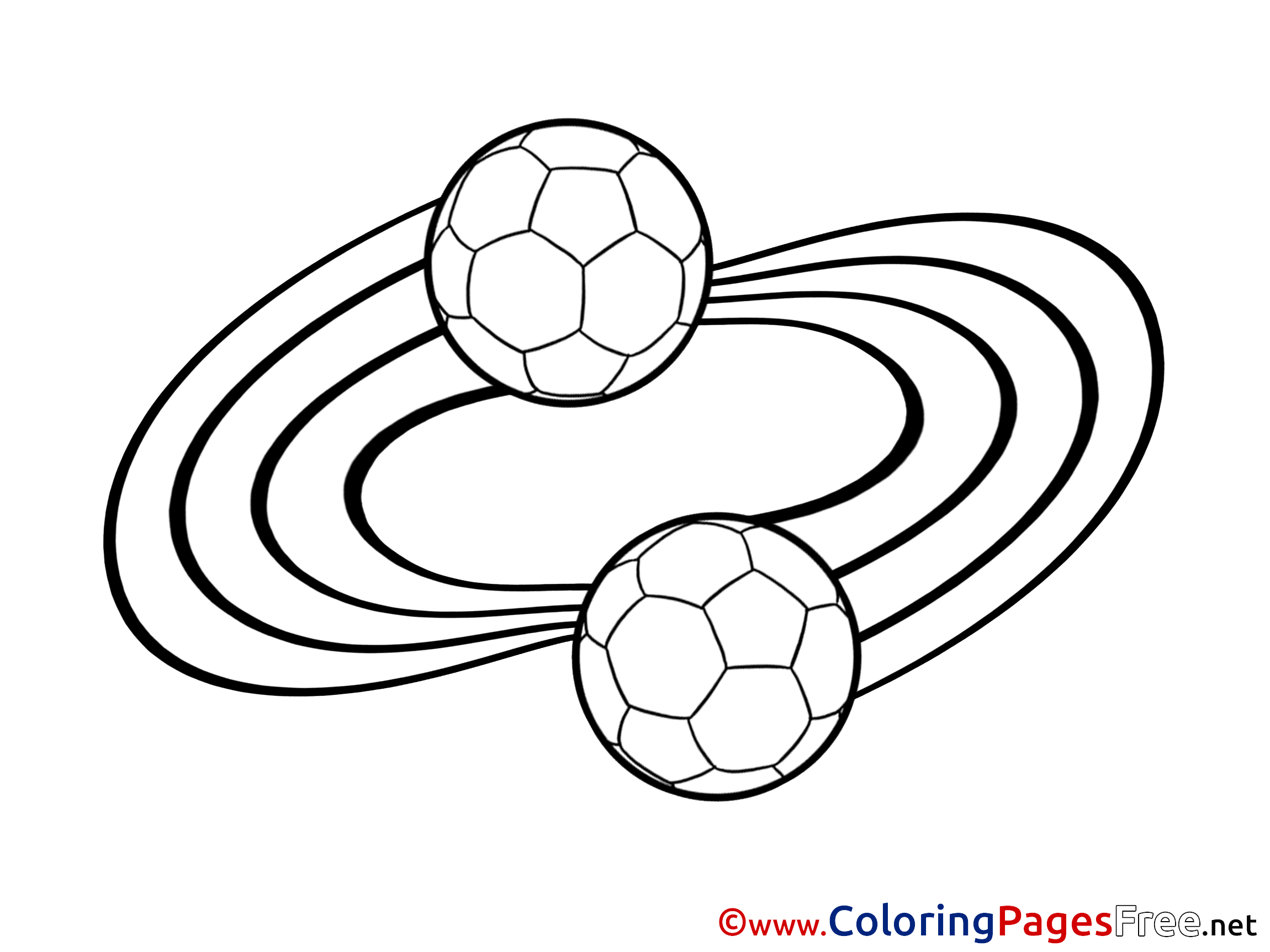 Football Balls printable Coloring Pages Soccer