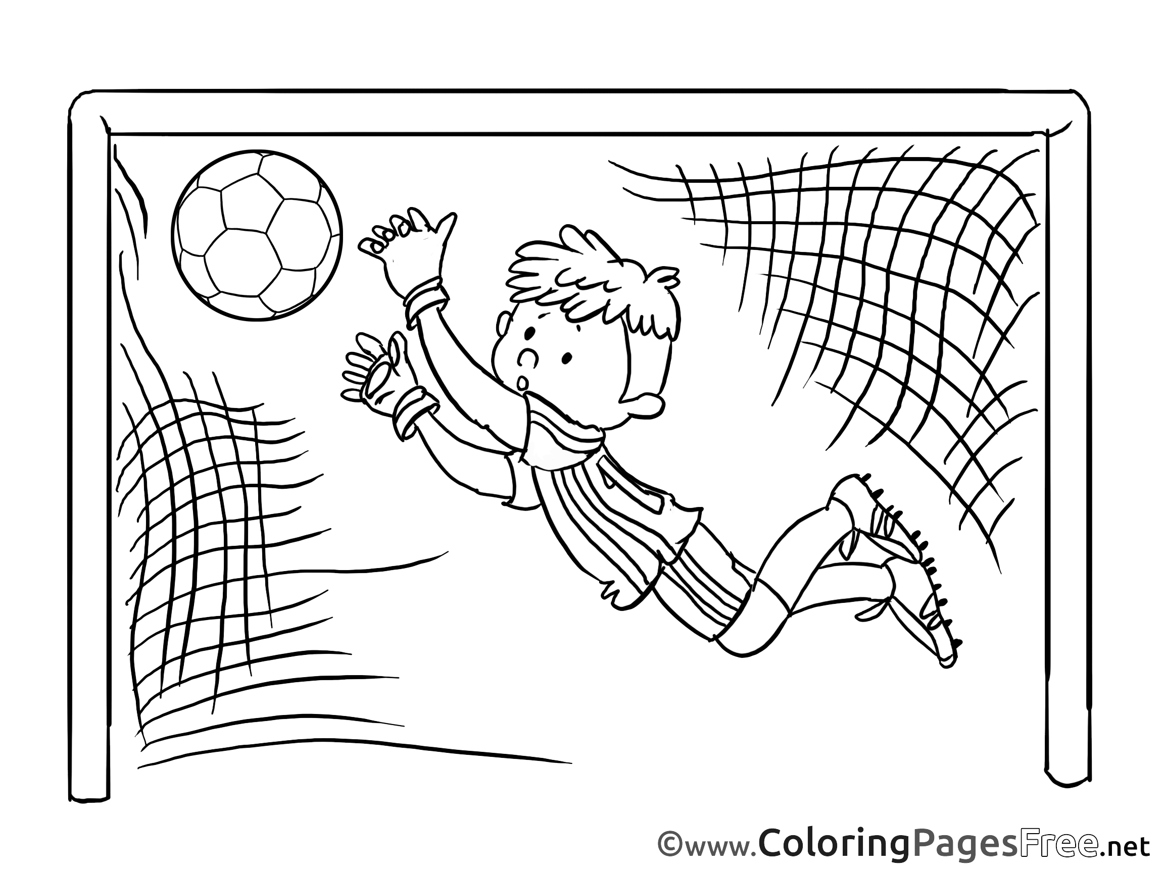 goal goalkeeper soccer free coloring pages