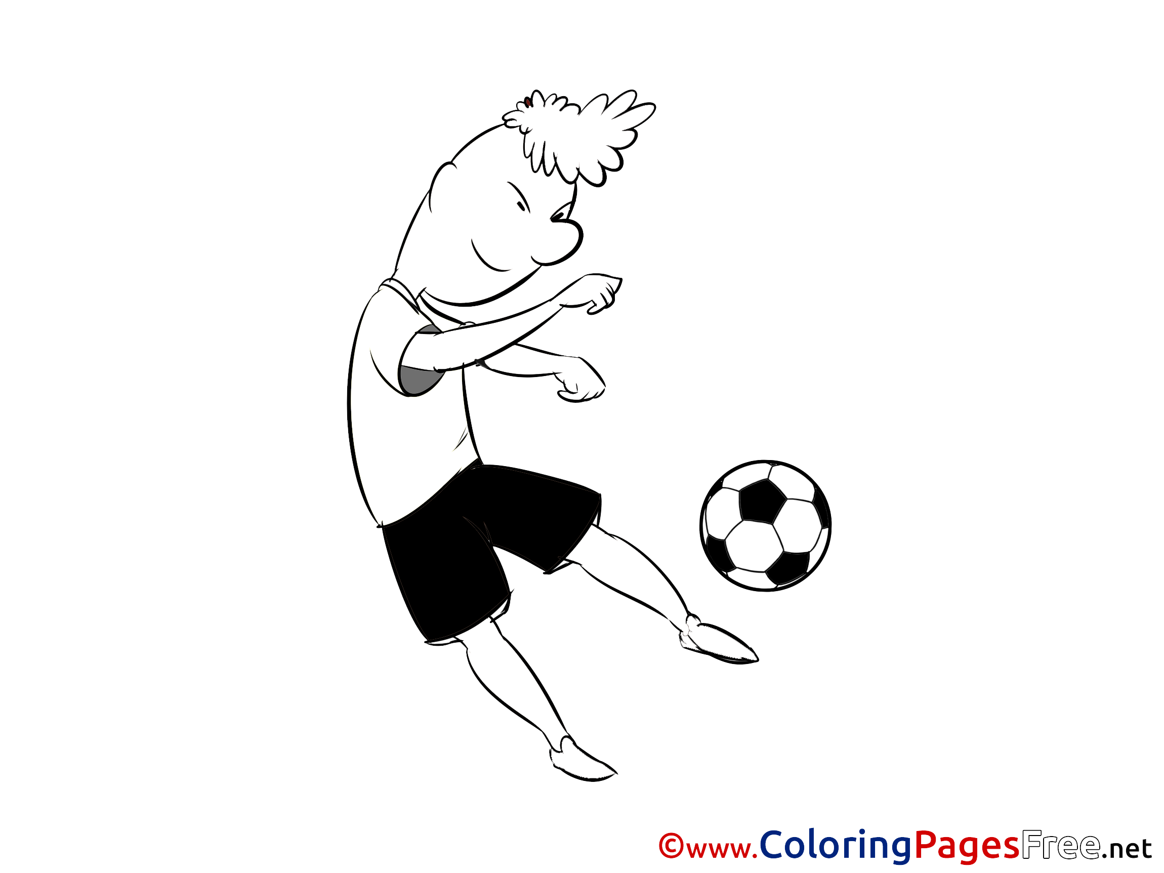 Kick Ball Coloring Sheets Soccer Free