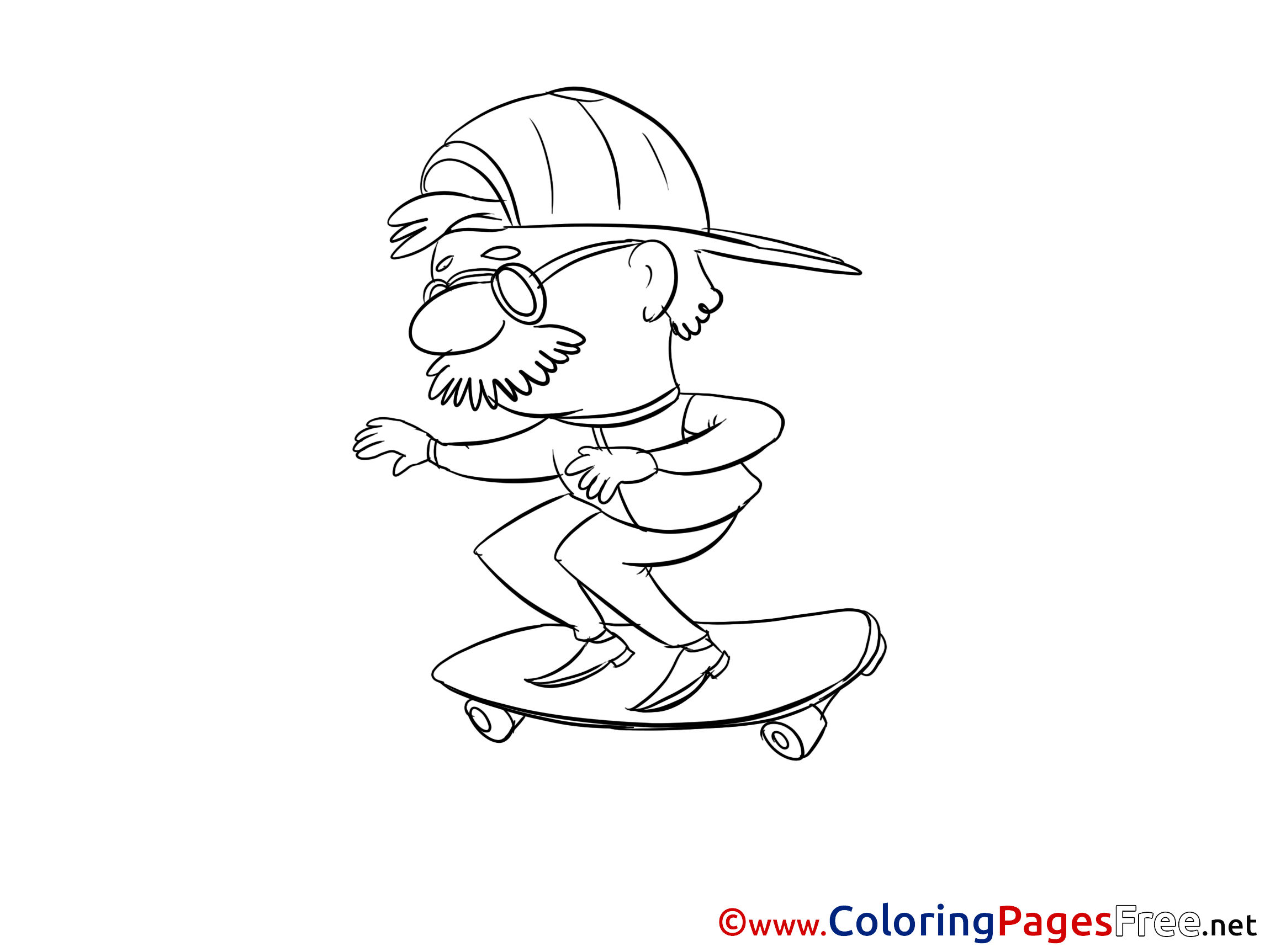 Skateboard Coloring Pages | 1725x2300