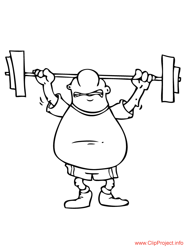 coloring pages weightlifter - photo#15