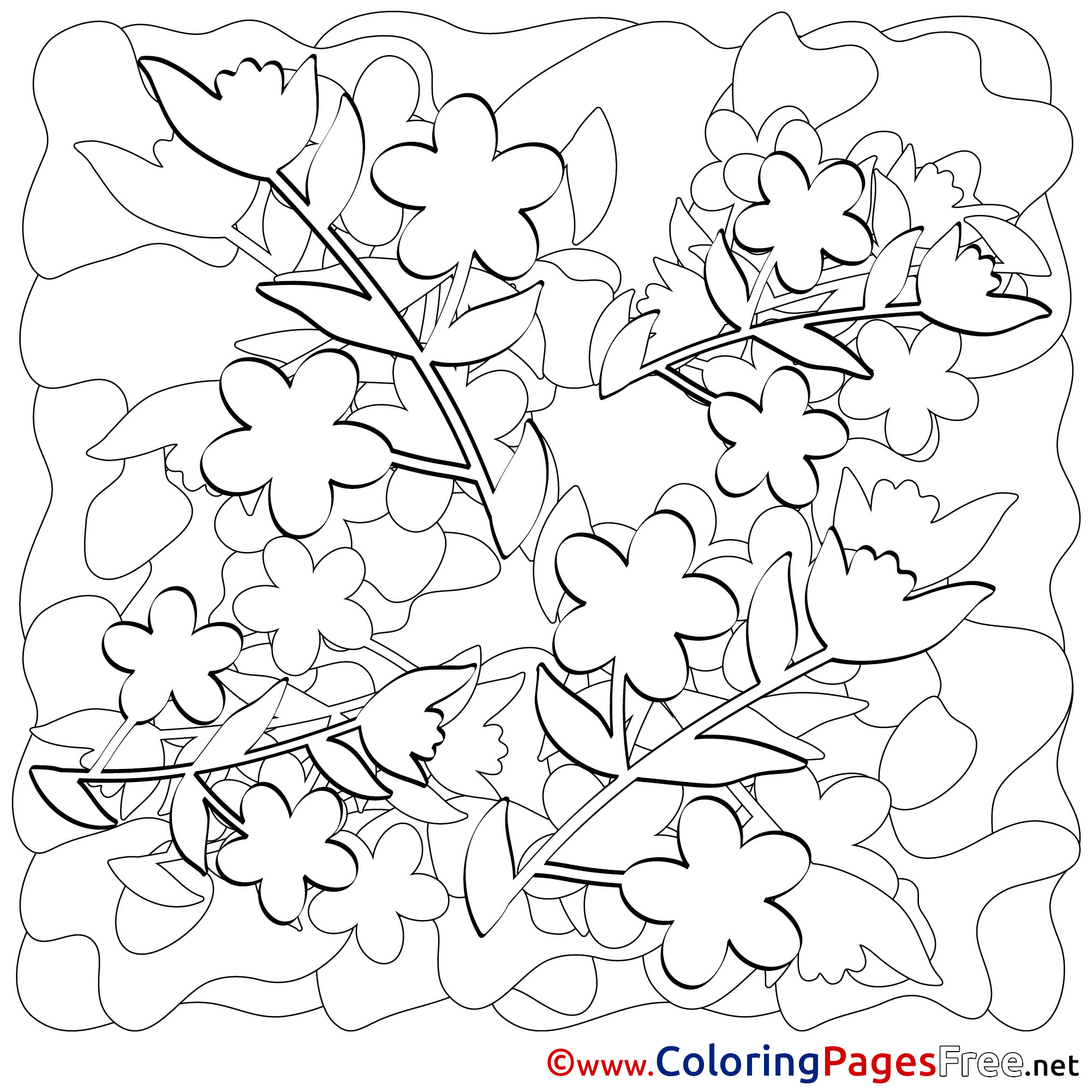 Spring Coloring Pages - Best Coloring Pages For Kids | 2001x2001