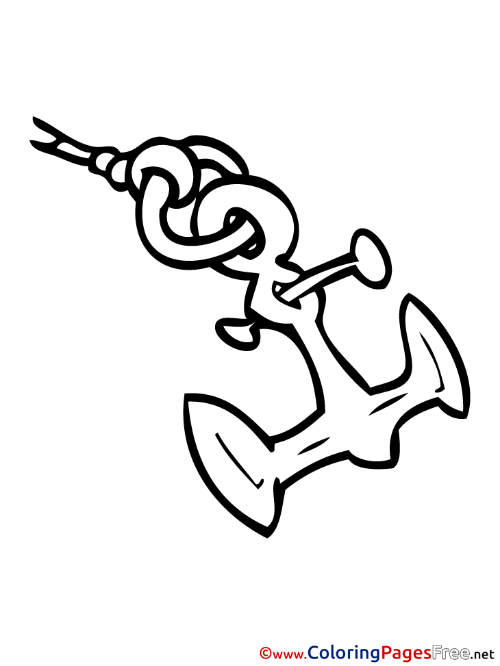 Anchor For Children Free Coloring Pages