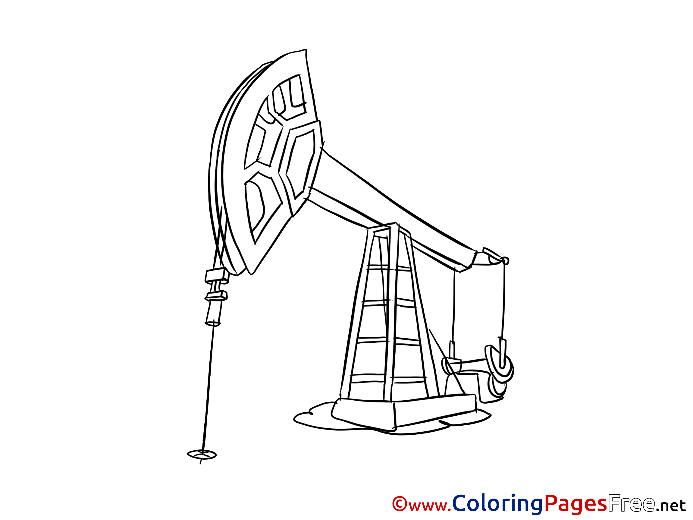 Oil Derrick printable Coloring Sheets download